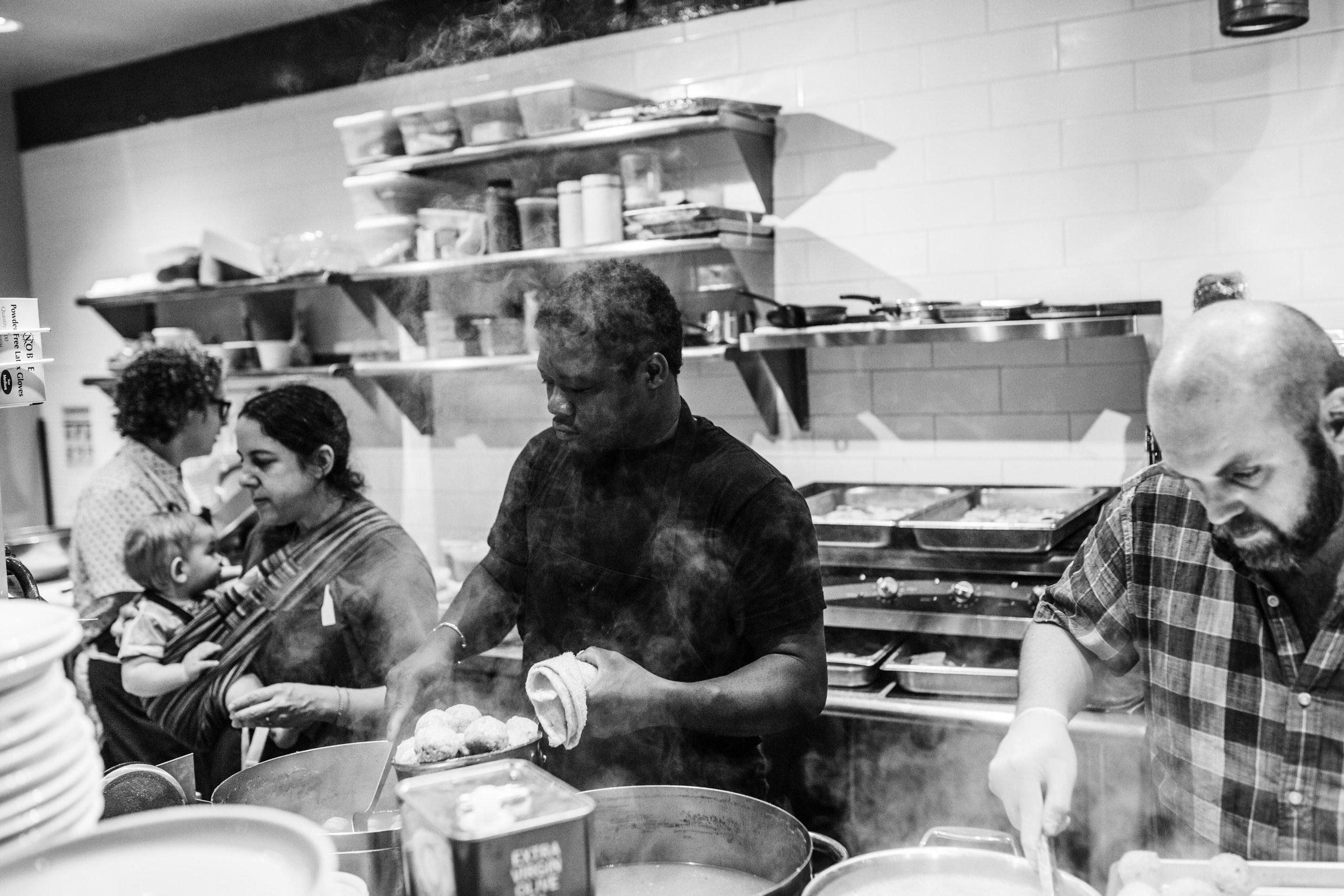 Fany Gerson (left) works tirelessly alongside her fellow chefs.