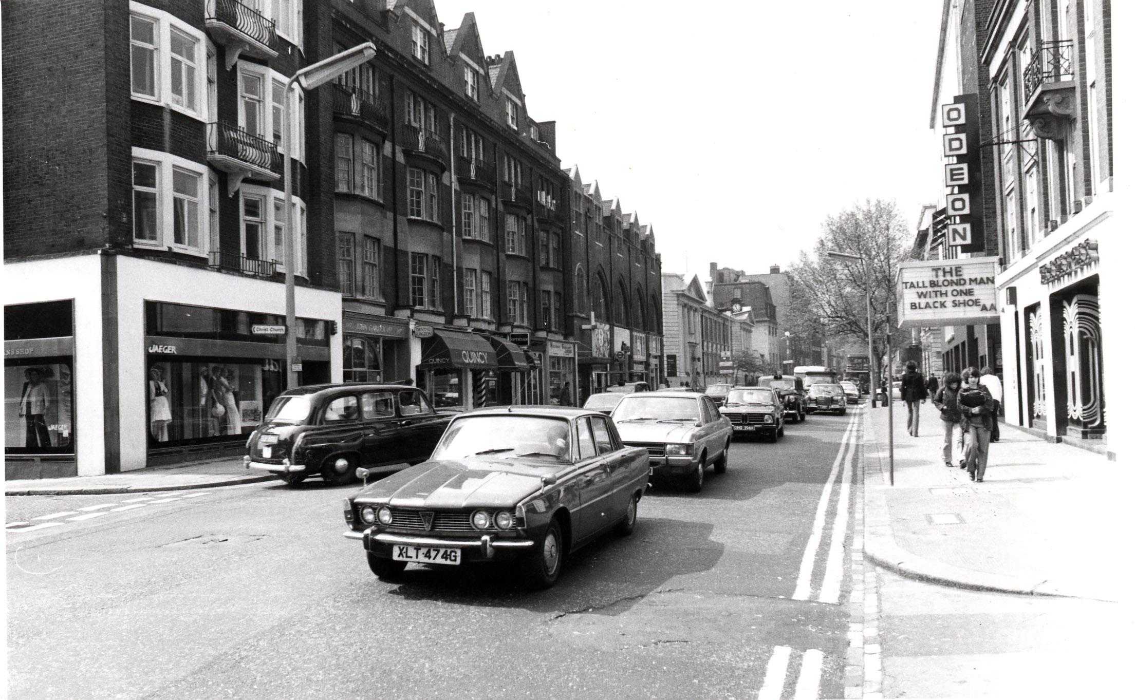 Kings Road - looking west from Flood Street 1974 KS 4448.JPG