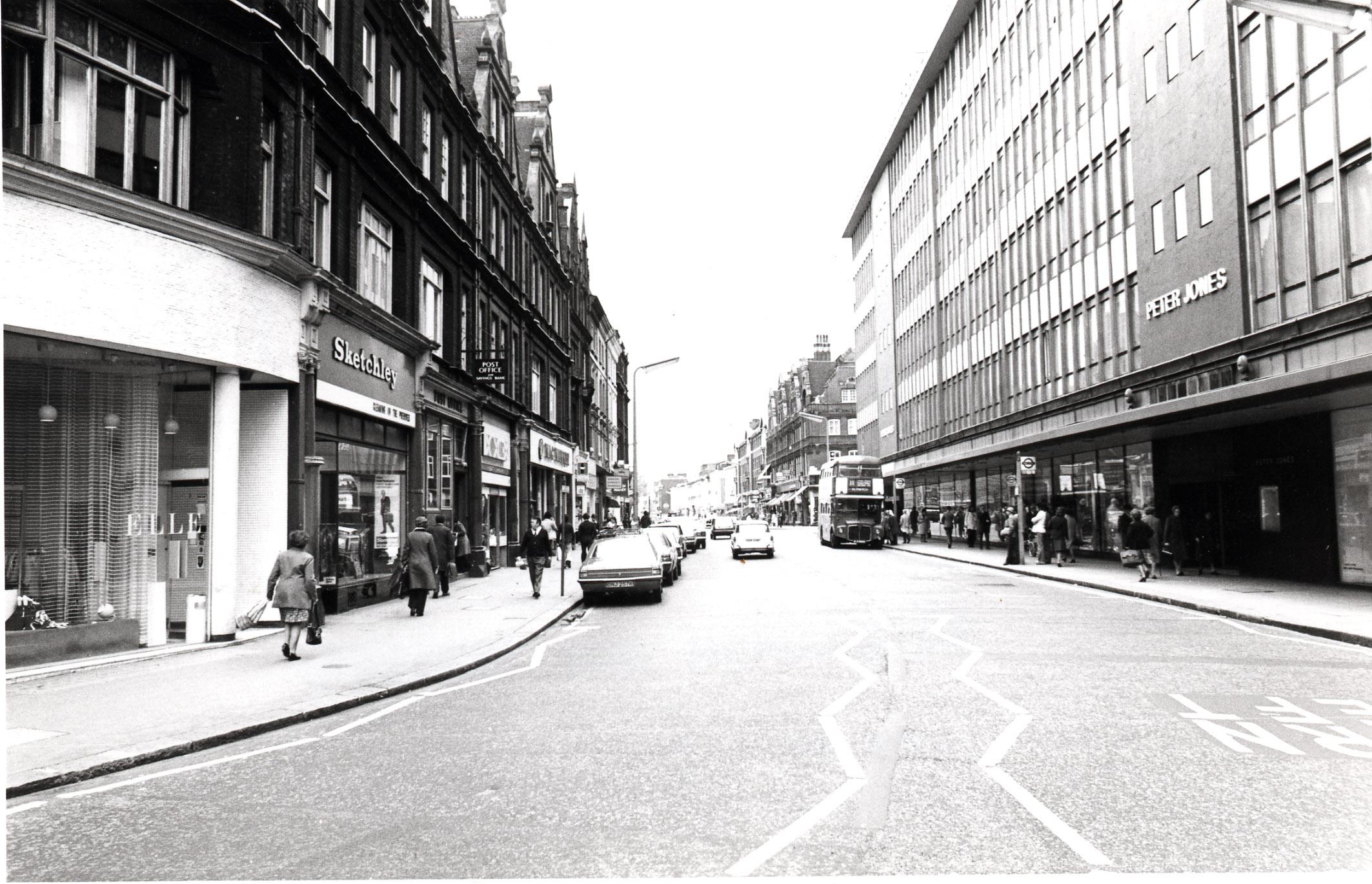 Kings Road - looking west from Sloane Square 1975 KS 4747.JPG