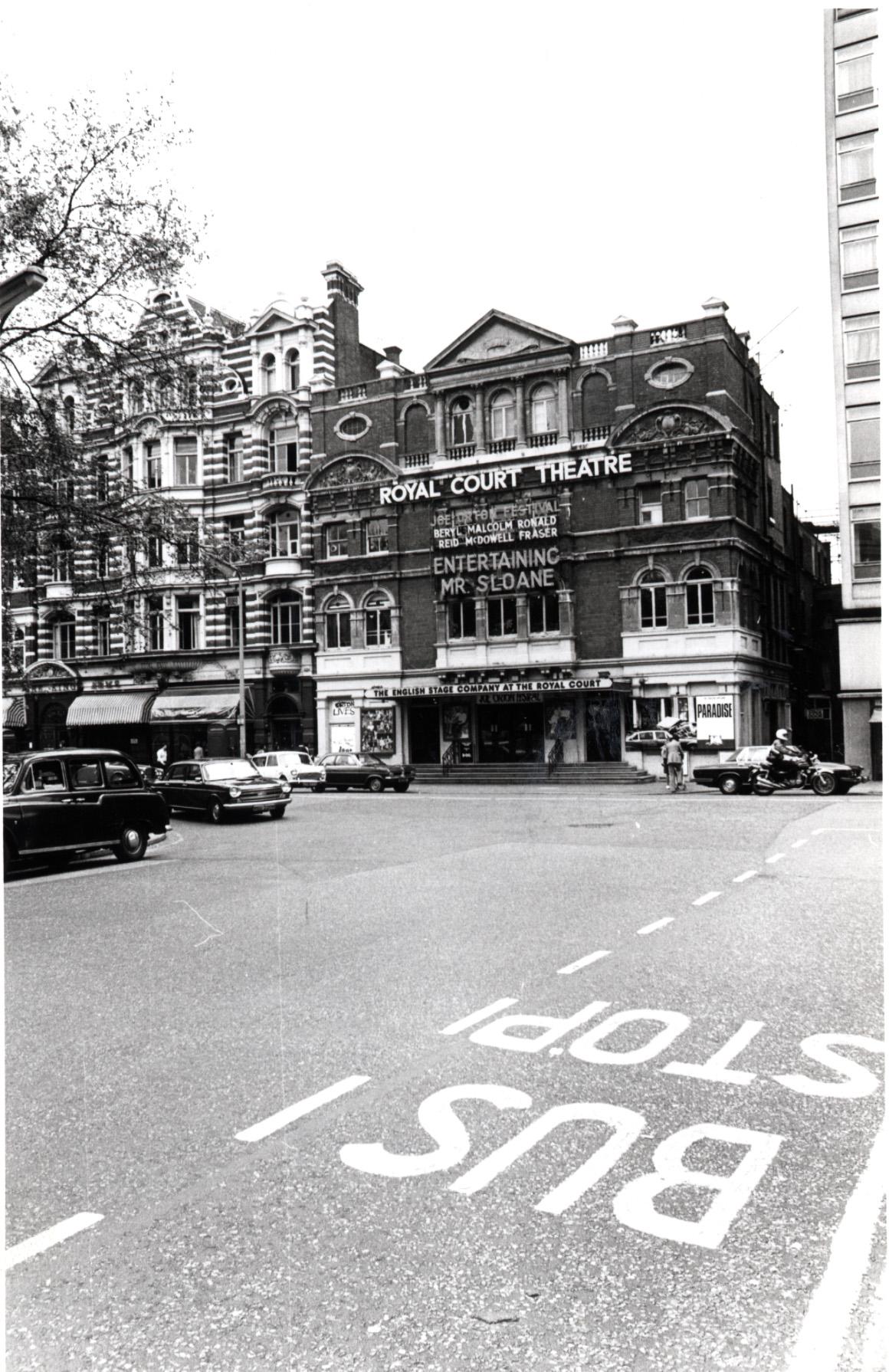 Sloane Square - east side, Royal Court Theatre 1975 KS4752.JPG
