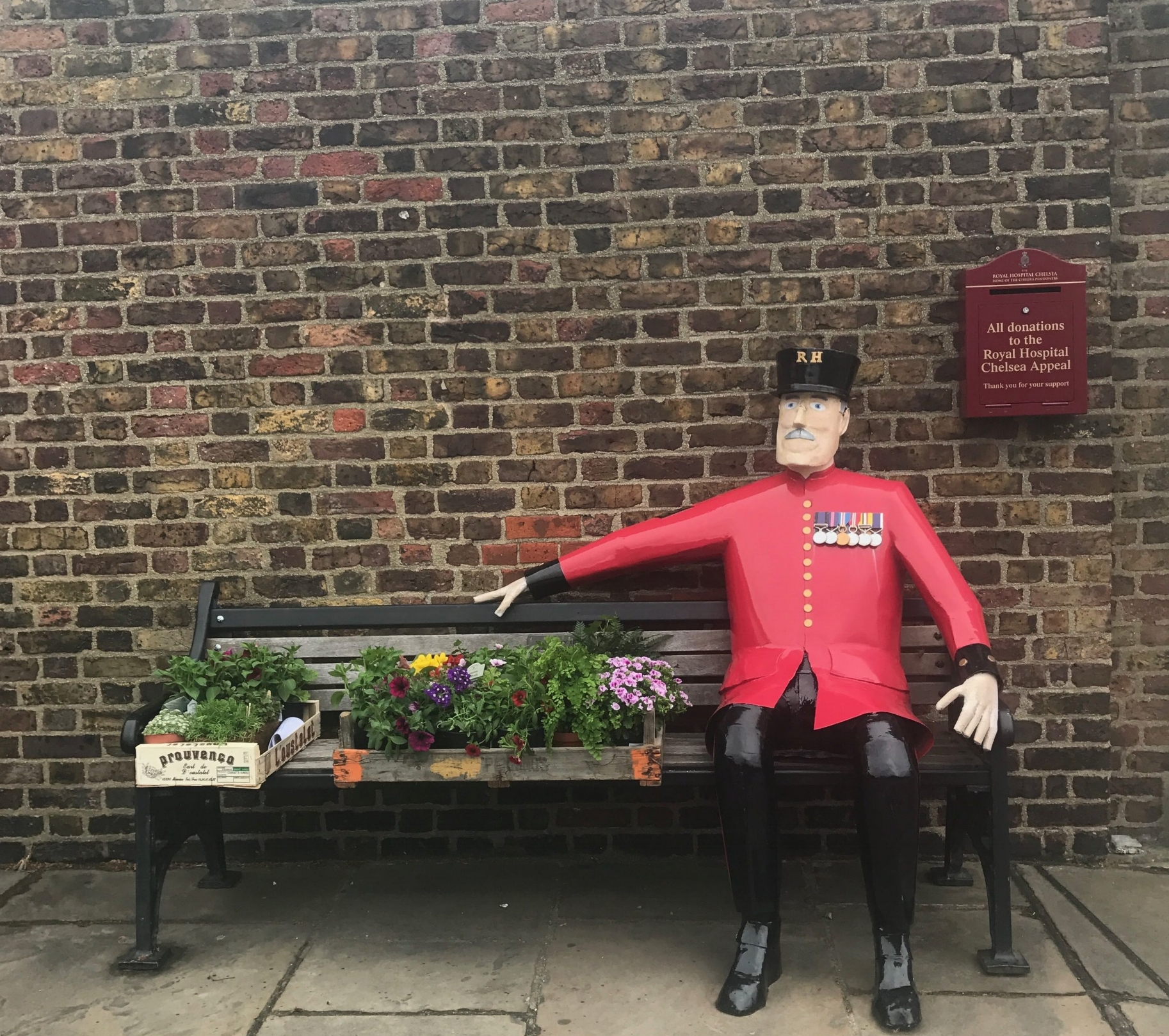 A Chelsea Pensioner Taking A Moment...before the show begins...