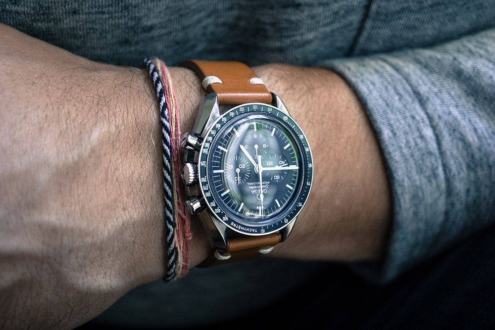 I bought my Omega Speedmaster brand new in 1985. I was in high school and used a Diners Club card they had foolishly issued me. This watch will be with me forever, until I give it to one of my kids, and I love it, busy chrono dial and all. Right up until it breaks, which it does with alarming regularity.