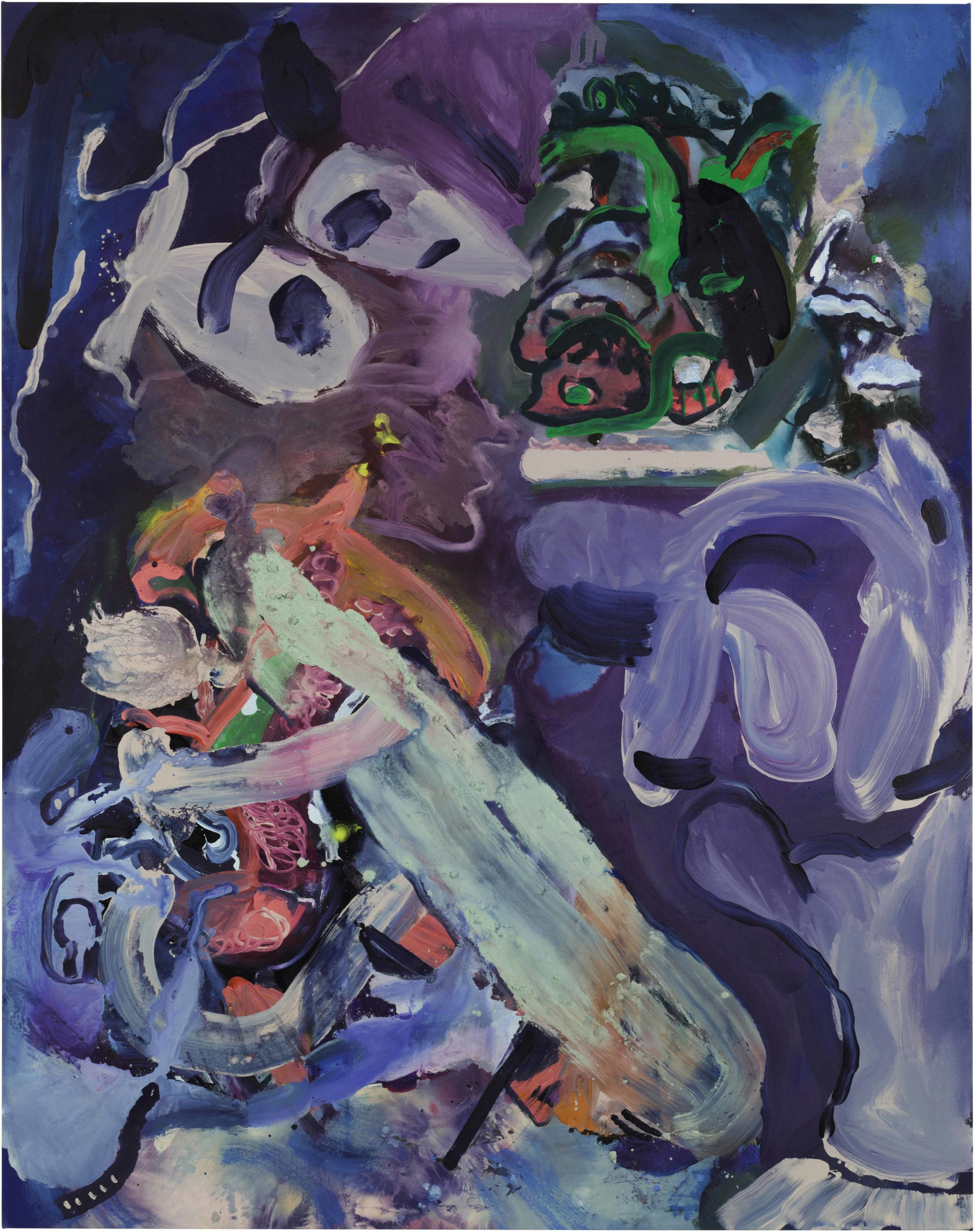 Drew Beattie and Ben Shepard  Primal Scene  2016 acrylic and spray paint on canvas 96 x 76 inches