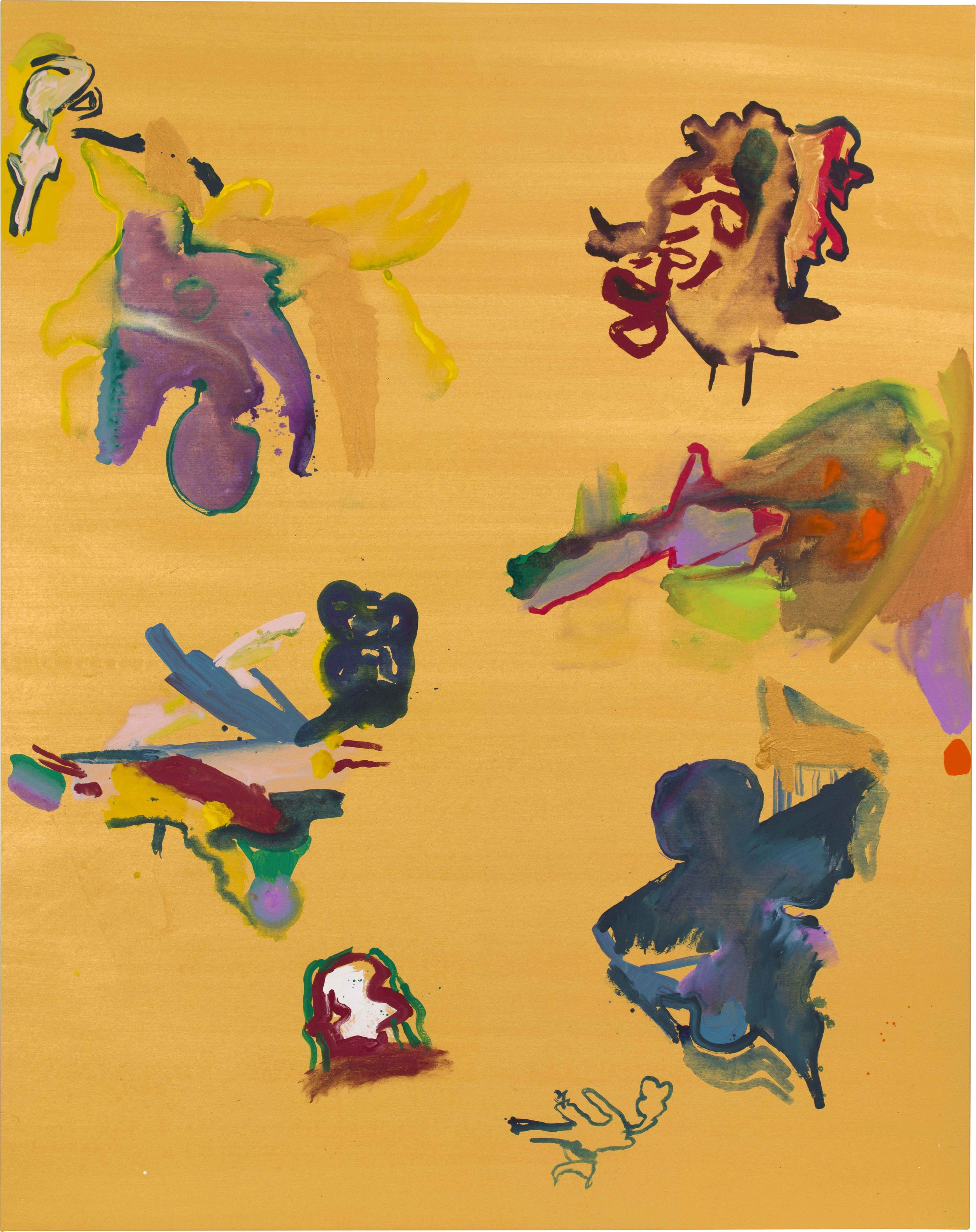 Drew Beattie and Ben Shepard  Gold Chart  2015 acrylic on canvas 96 x 76 inches