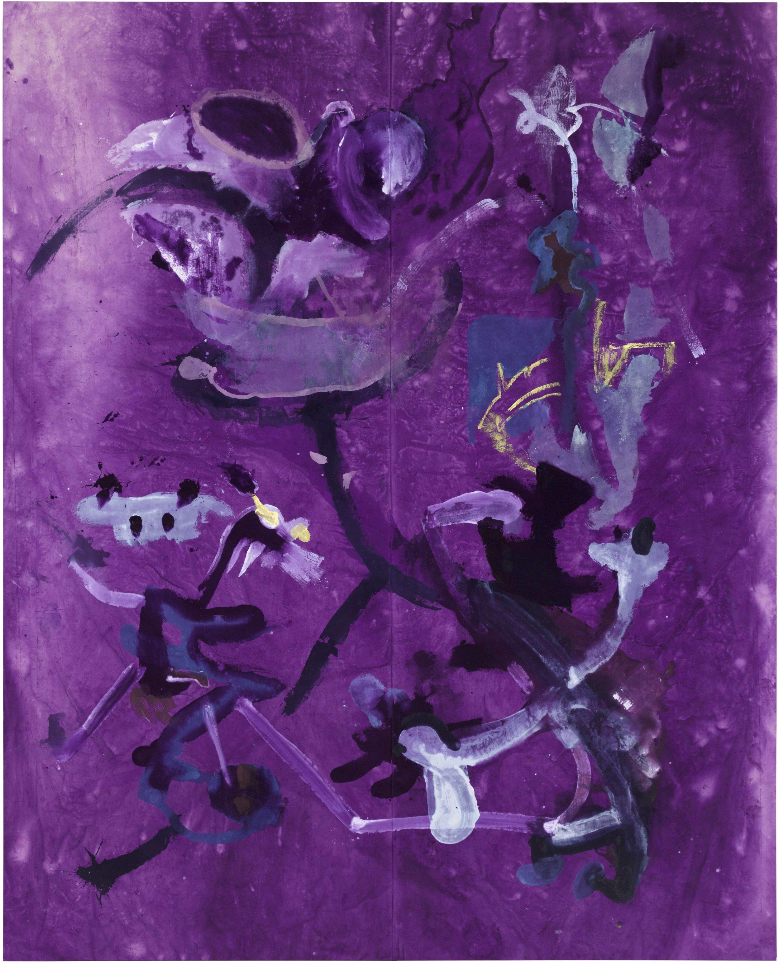 Drew Beattie and Ben Shepard  Night Garden  2015 acrylic on canvas 166 x 134 inches