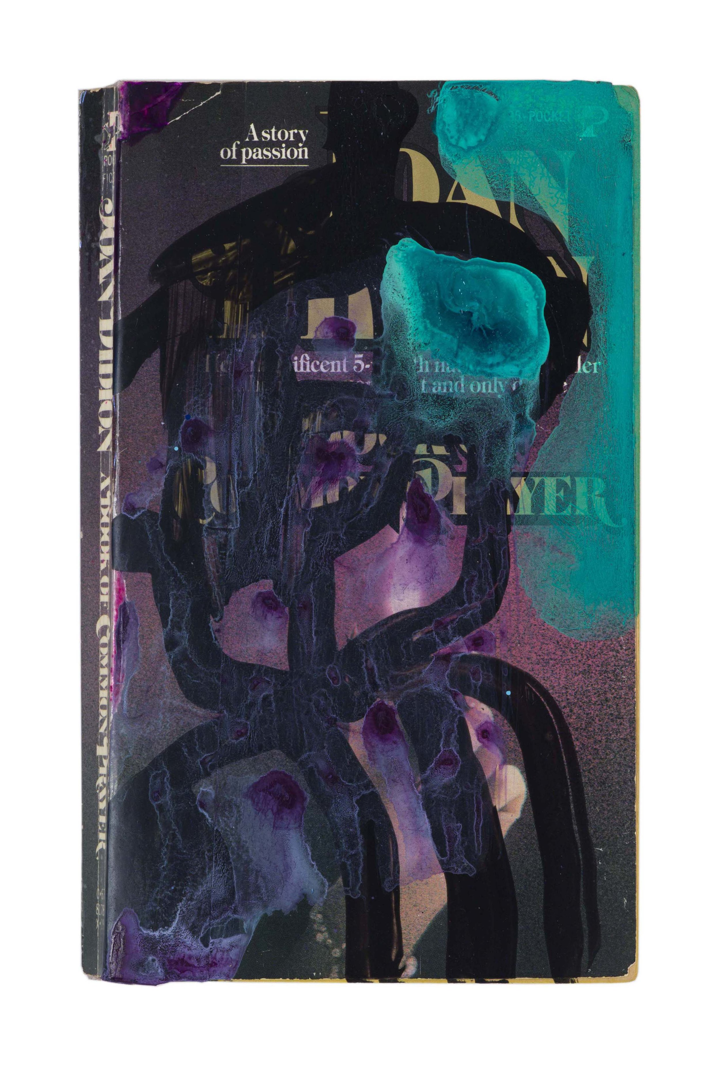 Drew Beattie and Ben Shepard  A Book of Common Prayer  acrylic and spray paint on used book 2016 7 x 4 ¼ inches