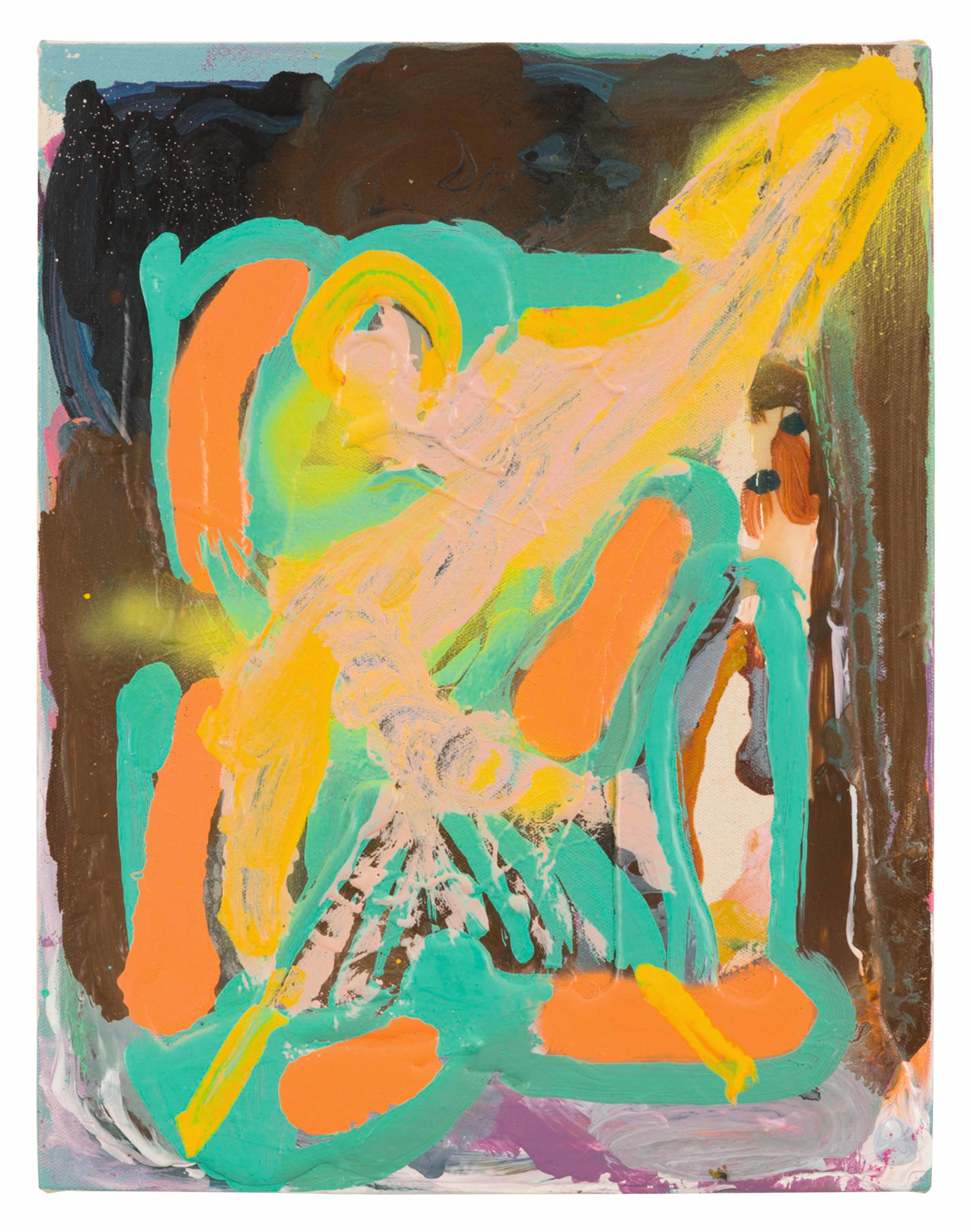 Drew Beattie and Ben Shepard  Diagonal Morning  2015 acrylic and synthetic resin on canvas 14 x 11 inches