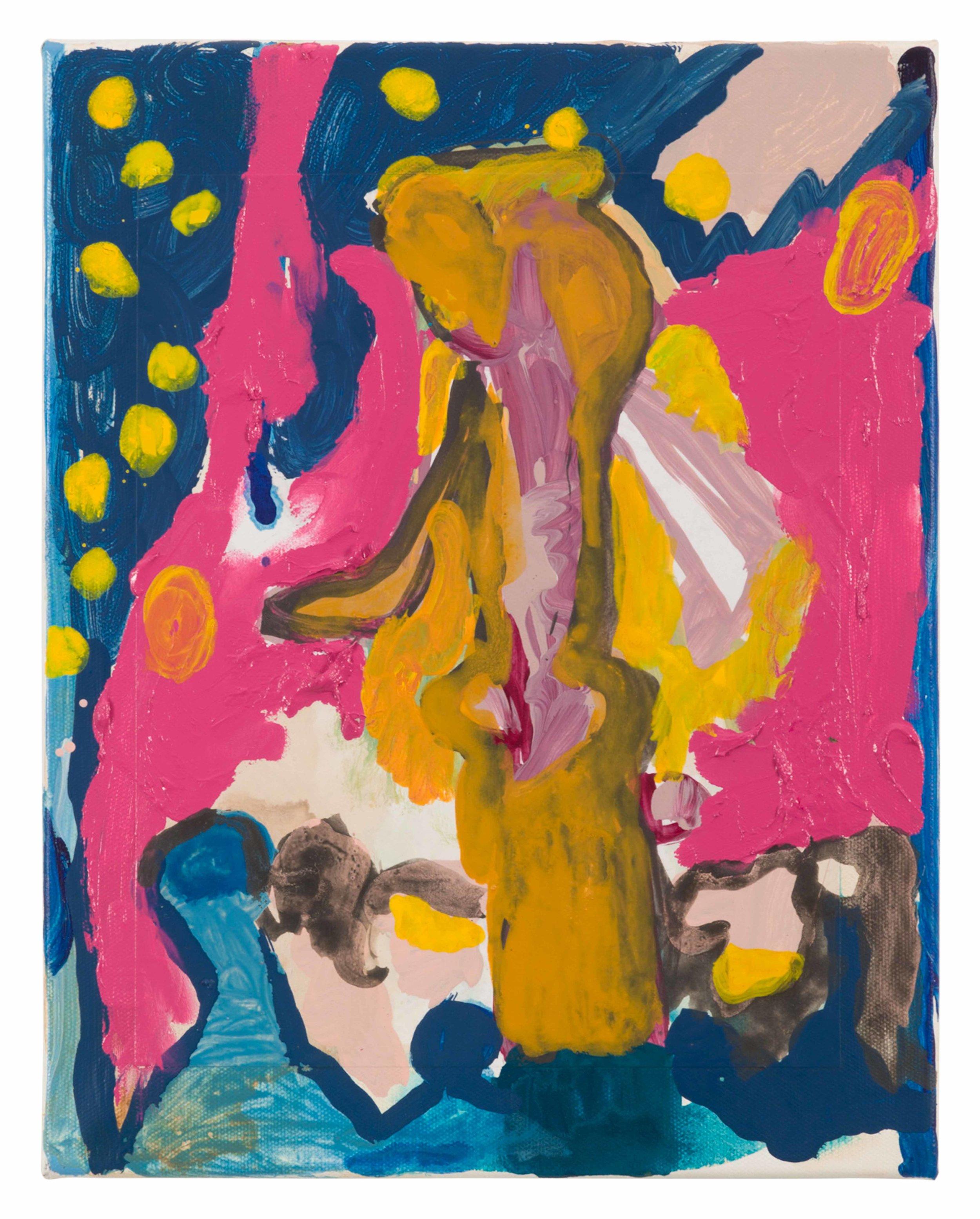 Drew Beattie and Ben Shepard  European Concert  2015 acrylic on canvas 14 x 11 inches