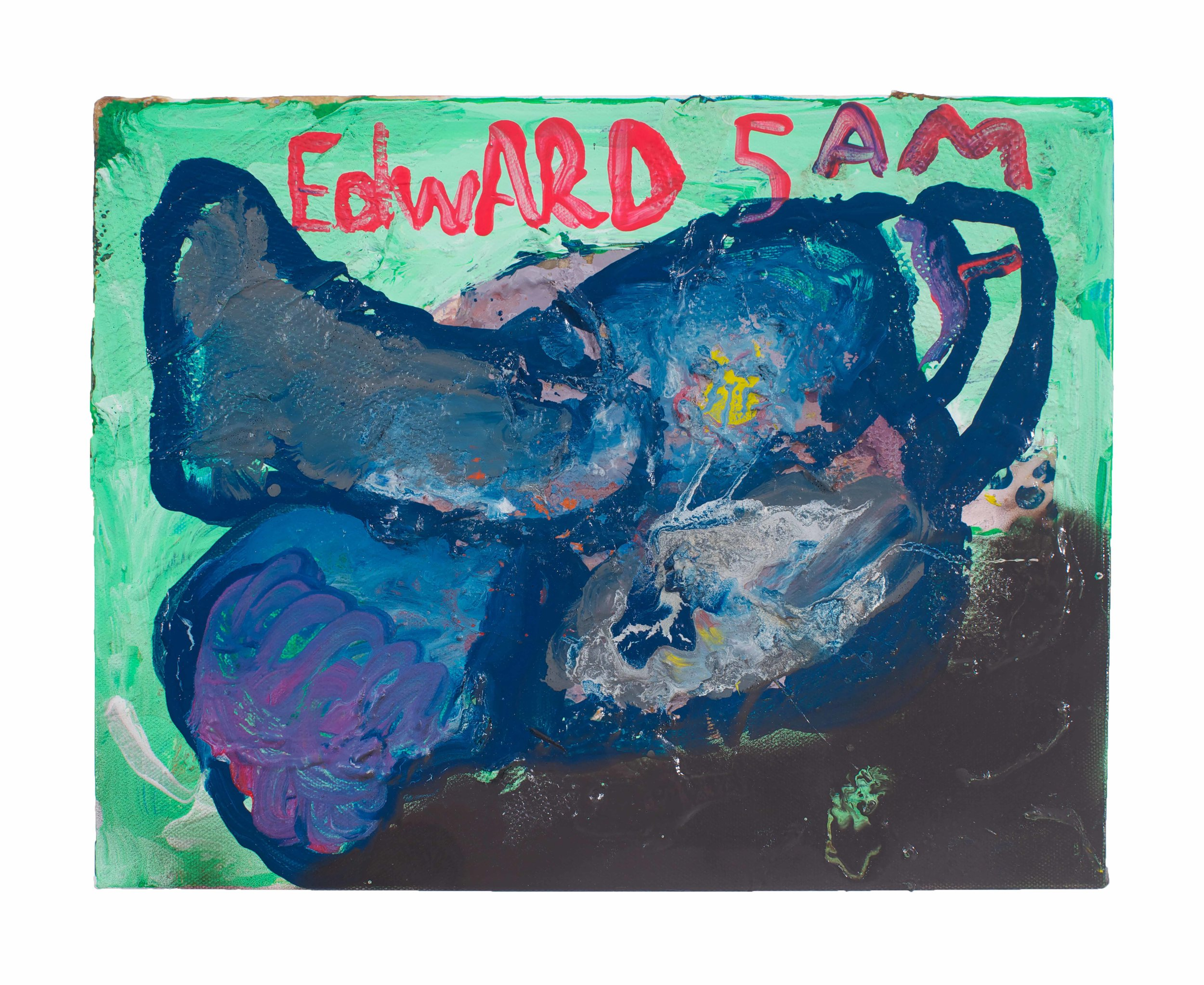 Drew Beattie and Ben Shepard  Edward 5 AM  2014 acrylic on canvas 11 x 14 inches