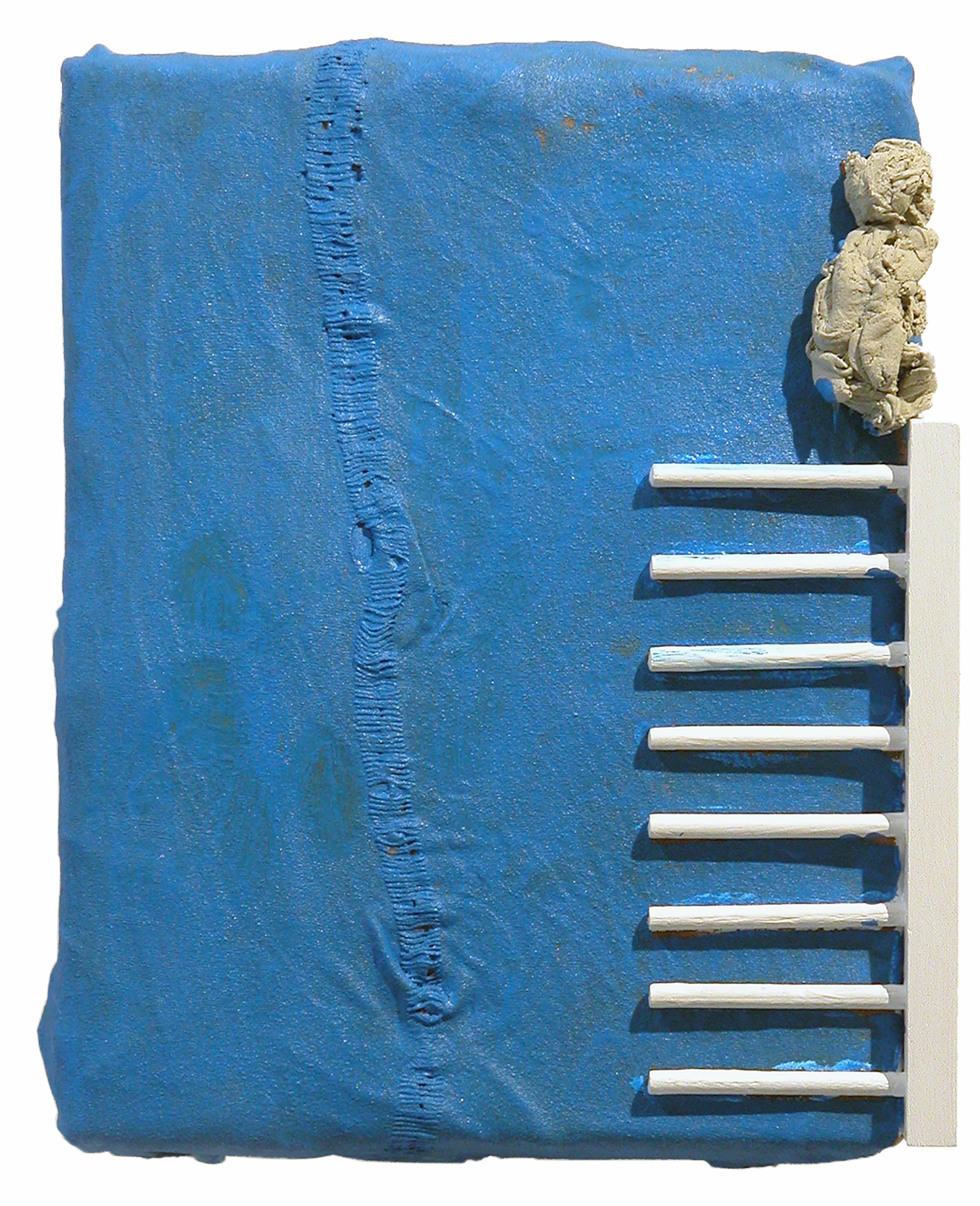 Drew Beattie  KT   2006 acrylic, bondo, wood and fabric on canvas 16½ x 12 inches