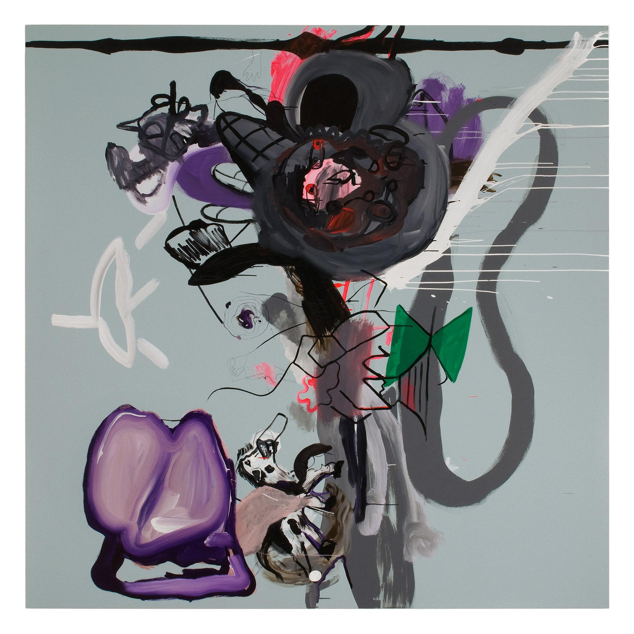 Drew Beattie  Secret Mouse  2010 acrylic on canvas 96 x 96 inches