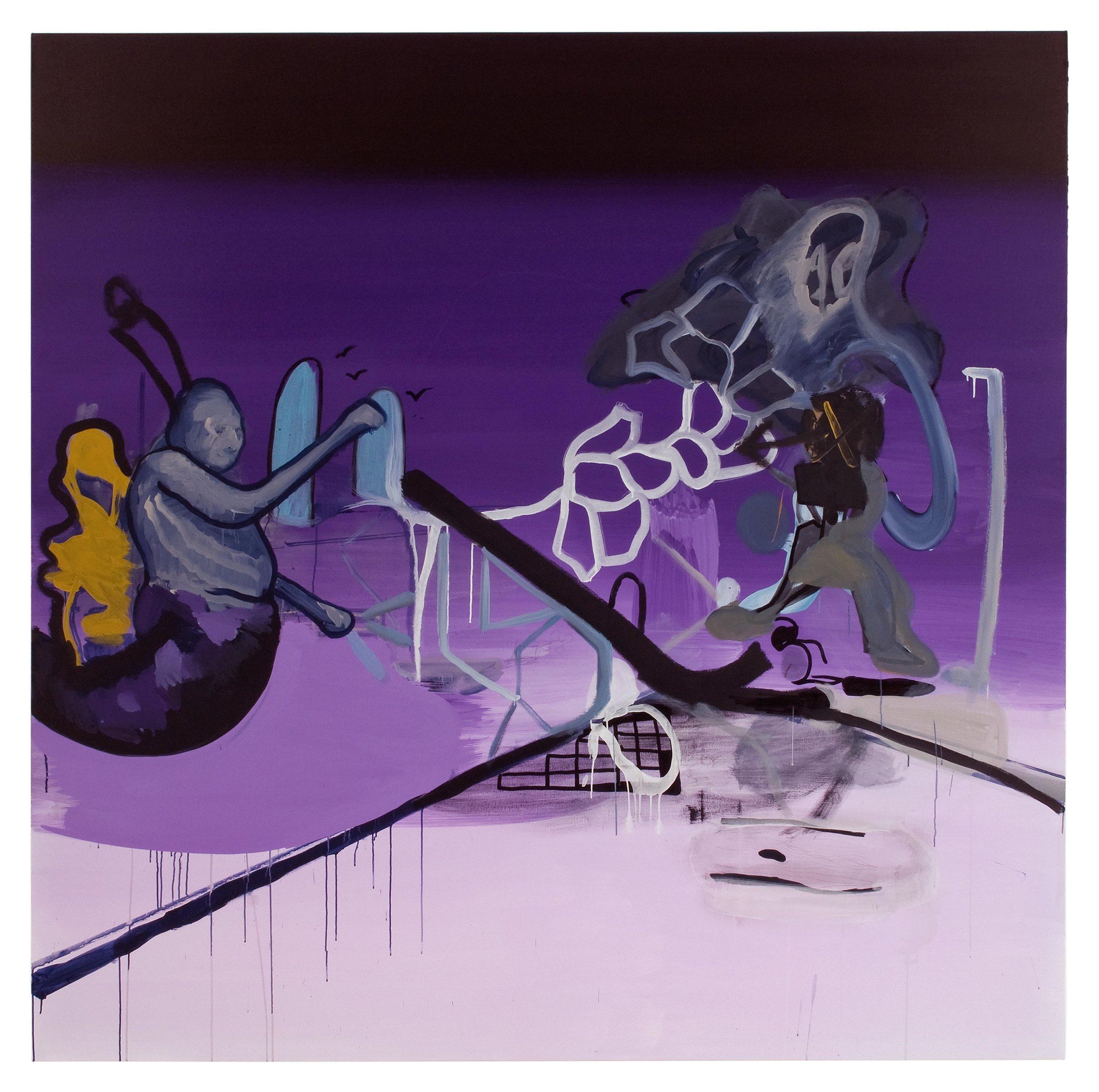Drew Beattie  The Room  2010 acrylic on canvas 96 x 96 inches