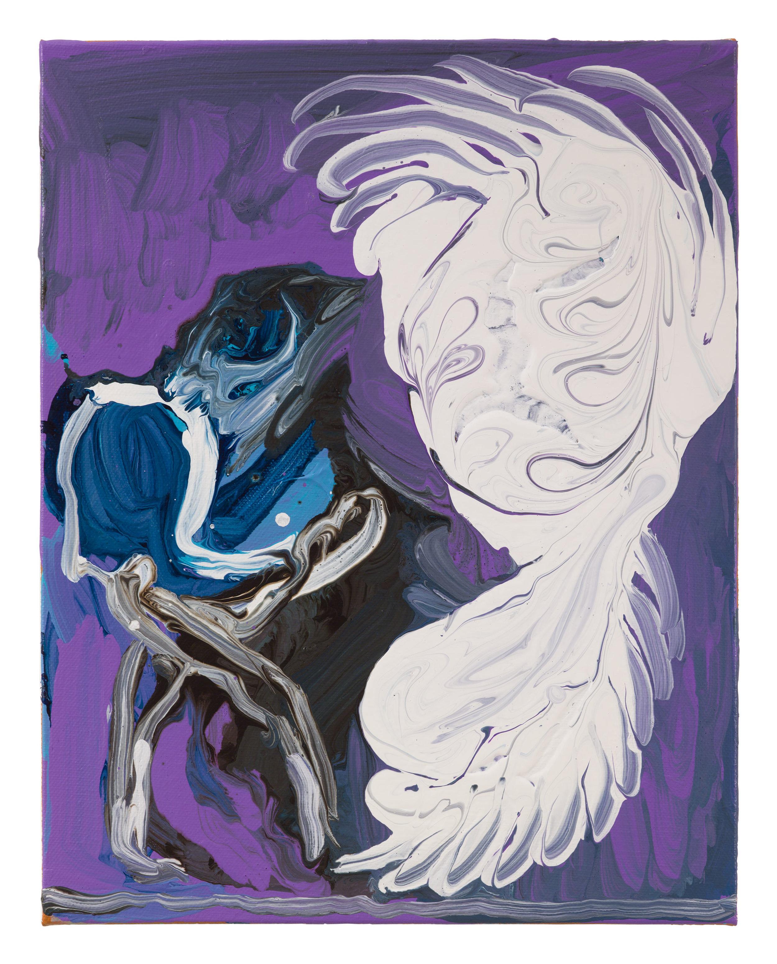 Drew Beattie  The Couple  2017 acrylic on canvas 14 x 11 inches