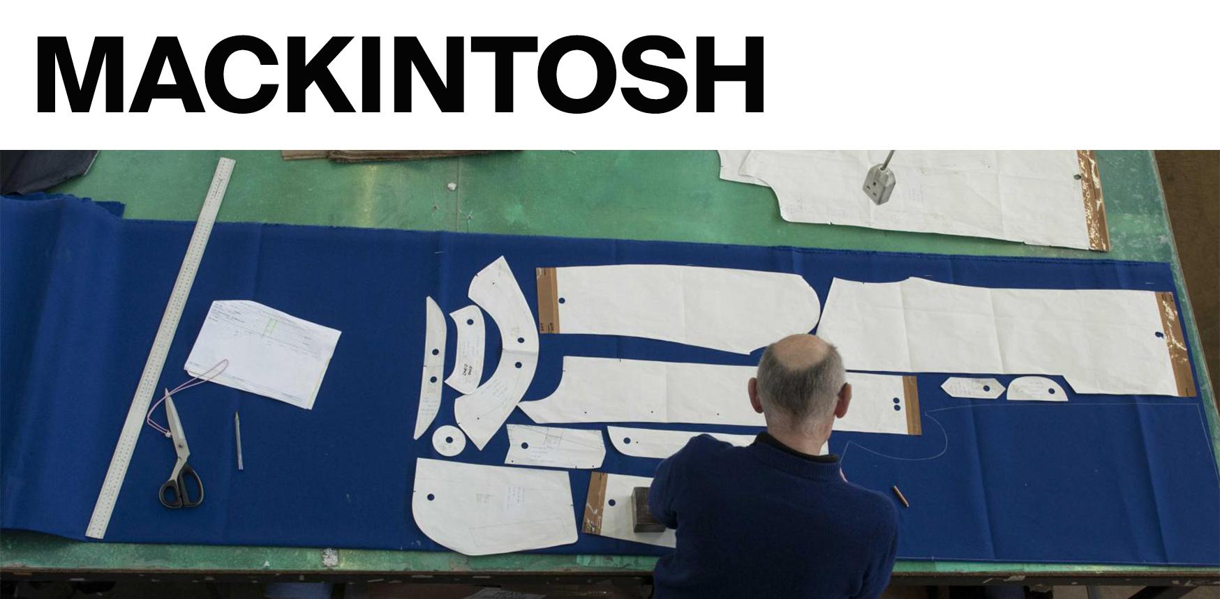 Making a Mackintosh. 4th May 11:00 — 16:00