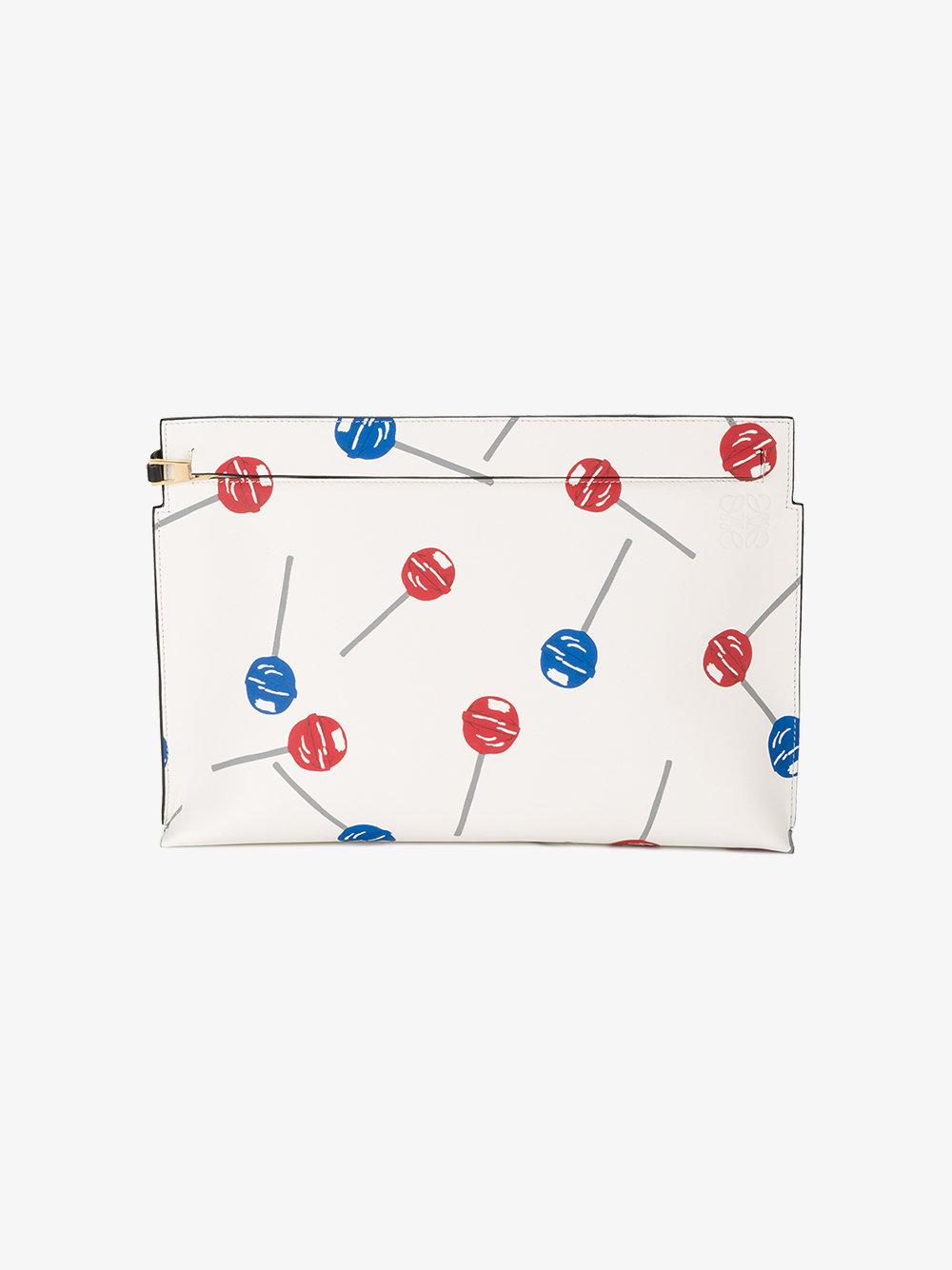 lowe lollipops print clutch, browns.jpg