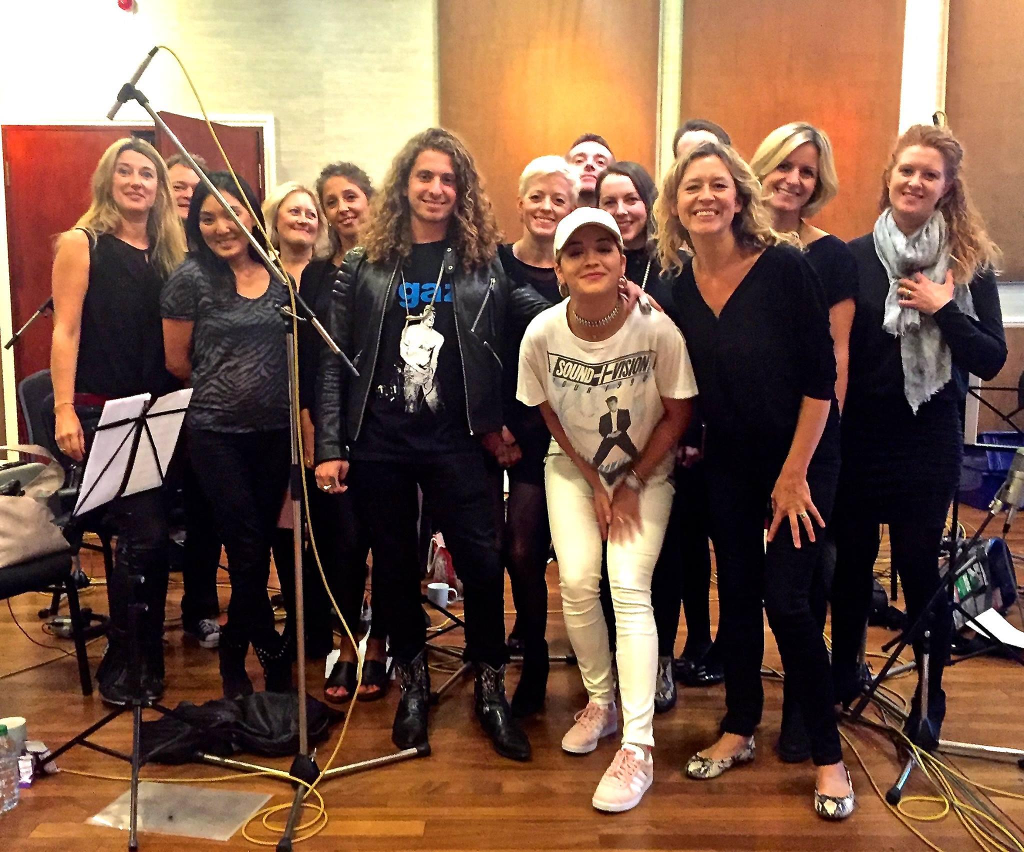 Anna in studio w/Rita Ora