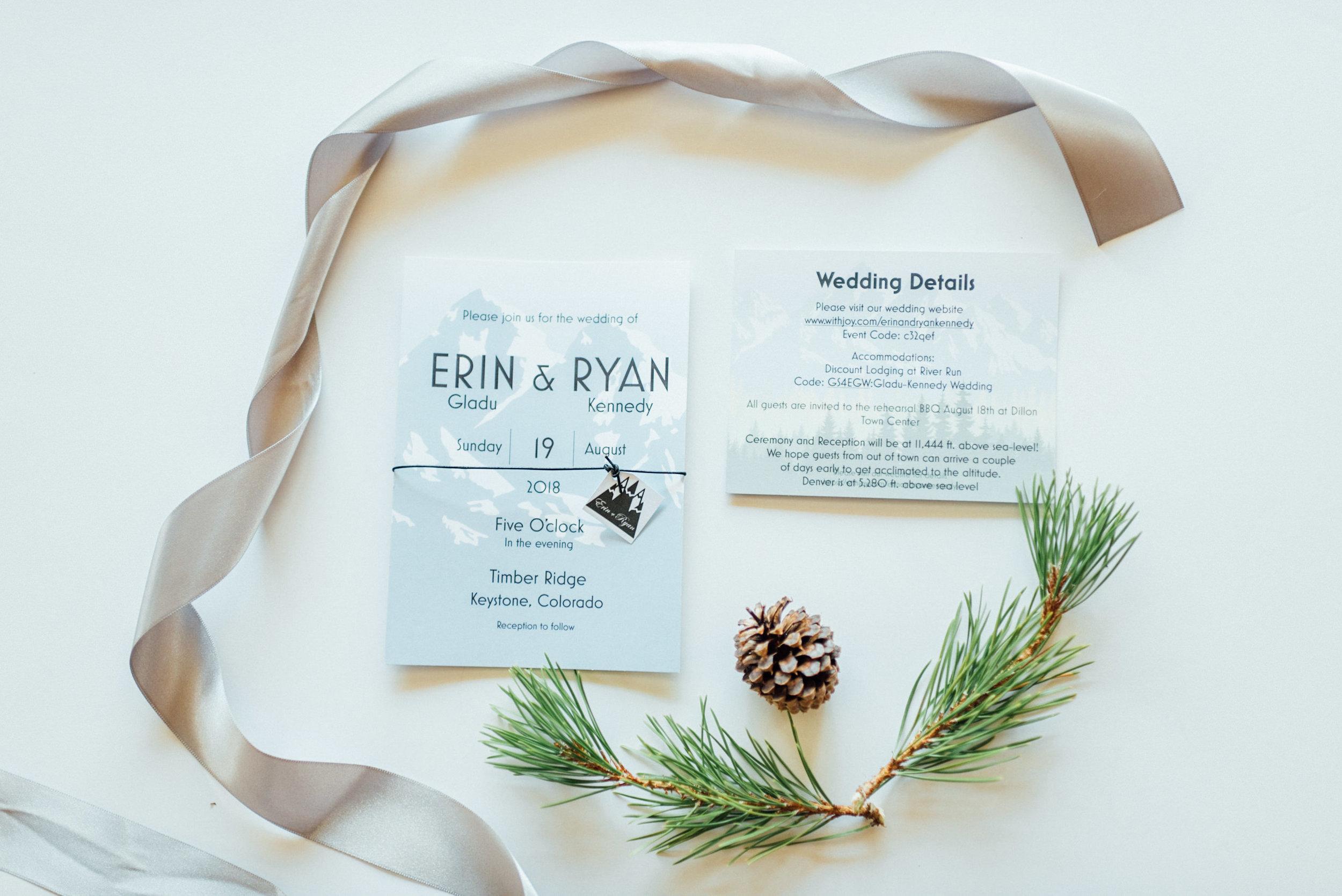 Details of gorgeous Keystone, Colorado Mountain Wedding