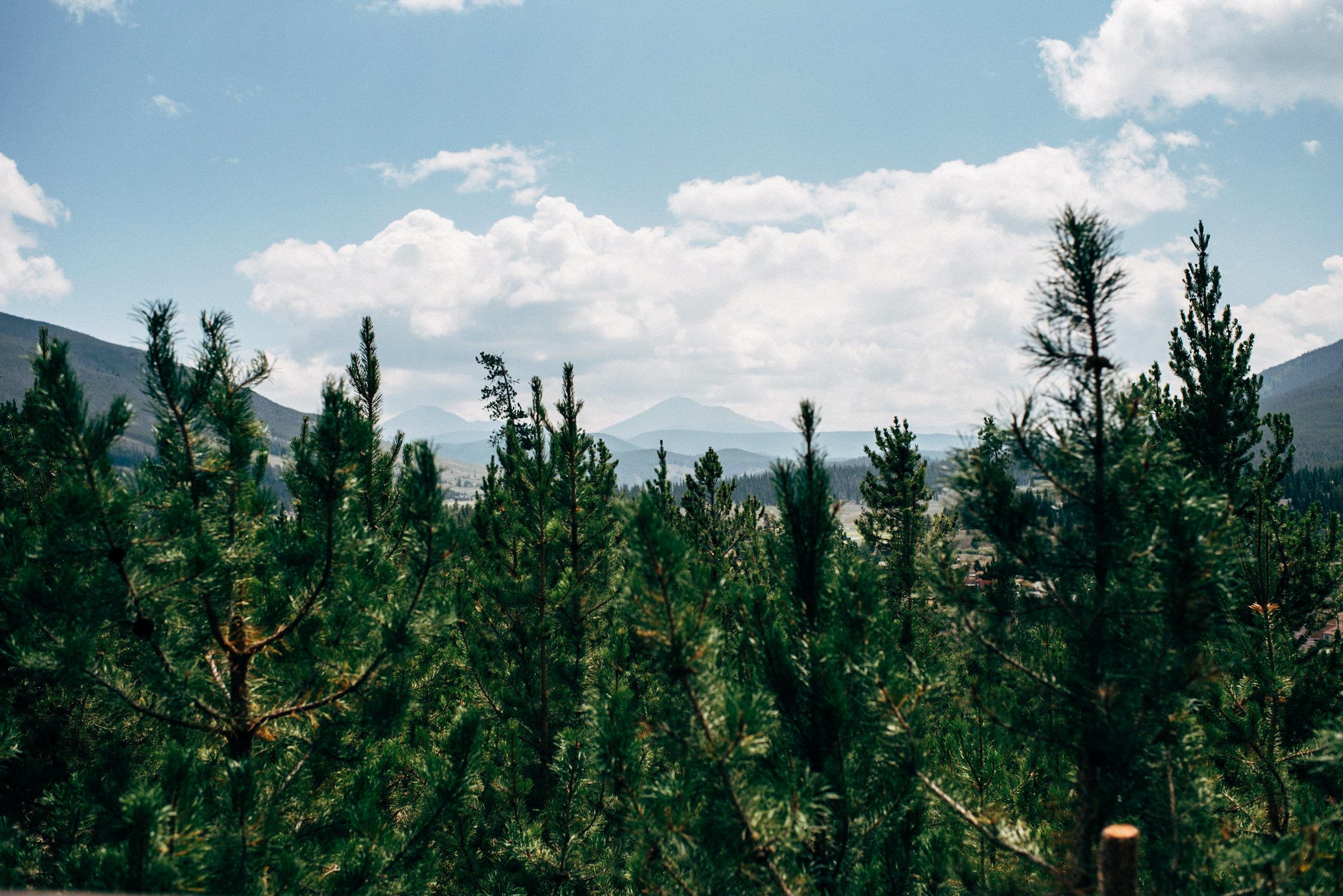 Gorgeous Keystone, Colorado mountain lookout.