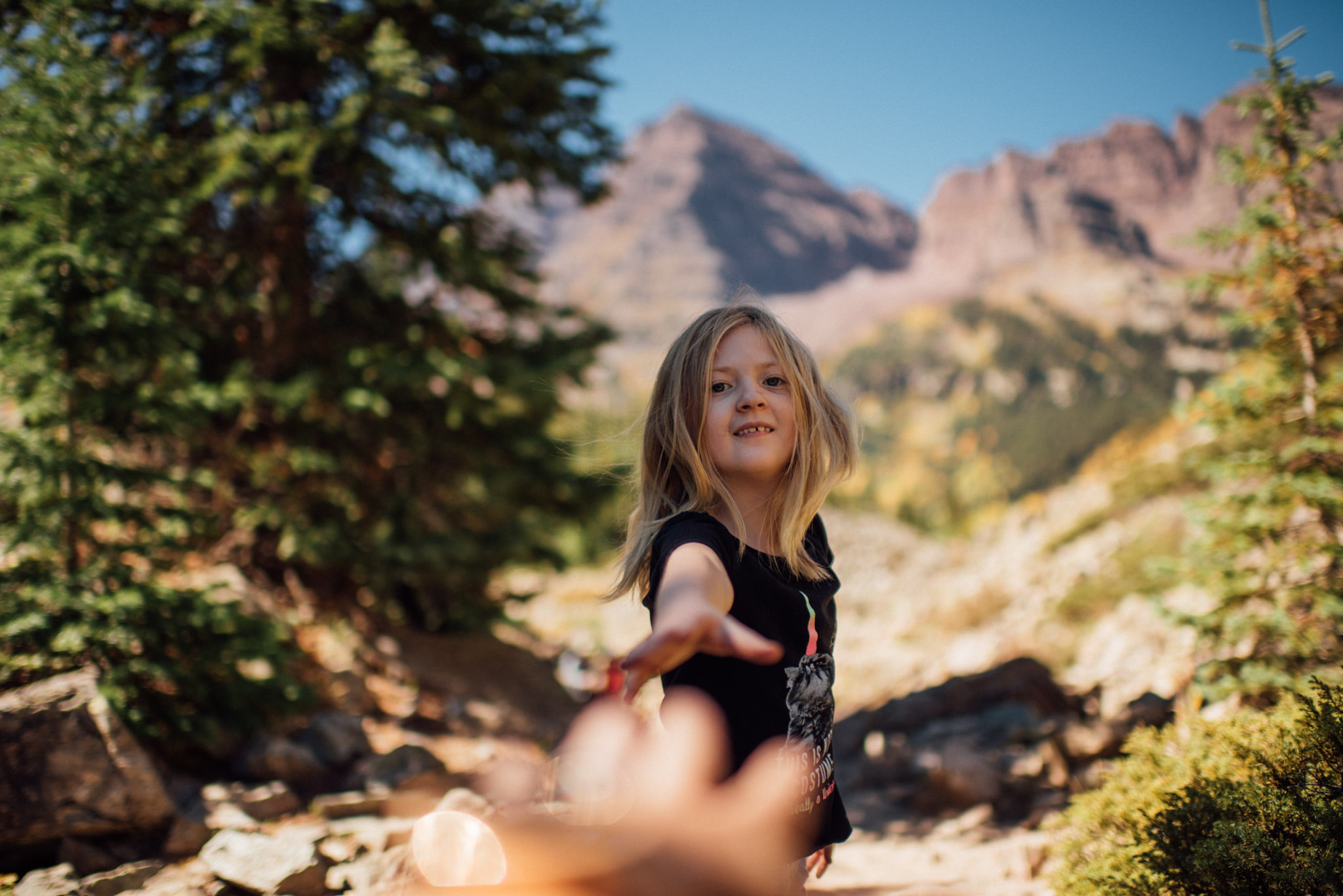 Don't let this fool you, she complained the entire way up. But was excited we were almost to the top and ending the hike.