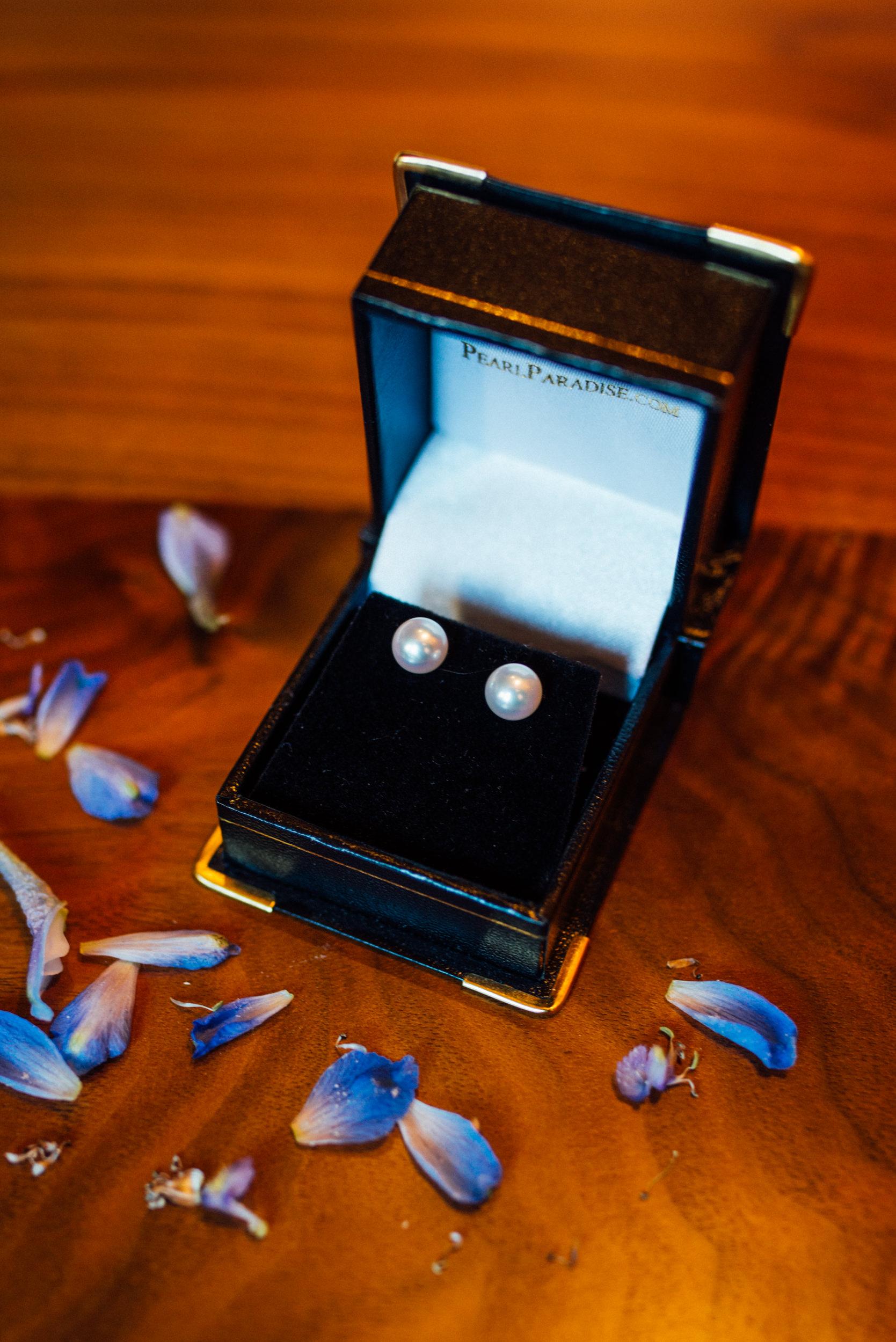 Colorado Denver Downtown Urban Wedding Colorado Wedding Photographer earring details
