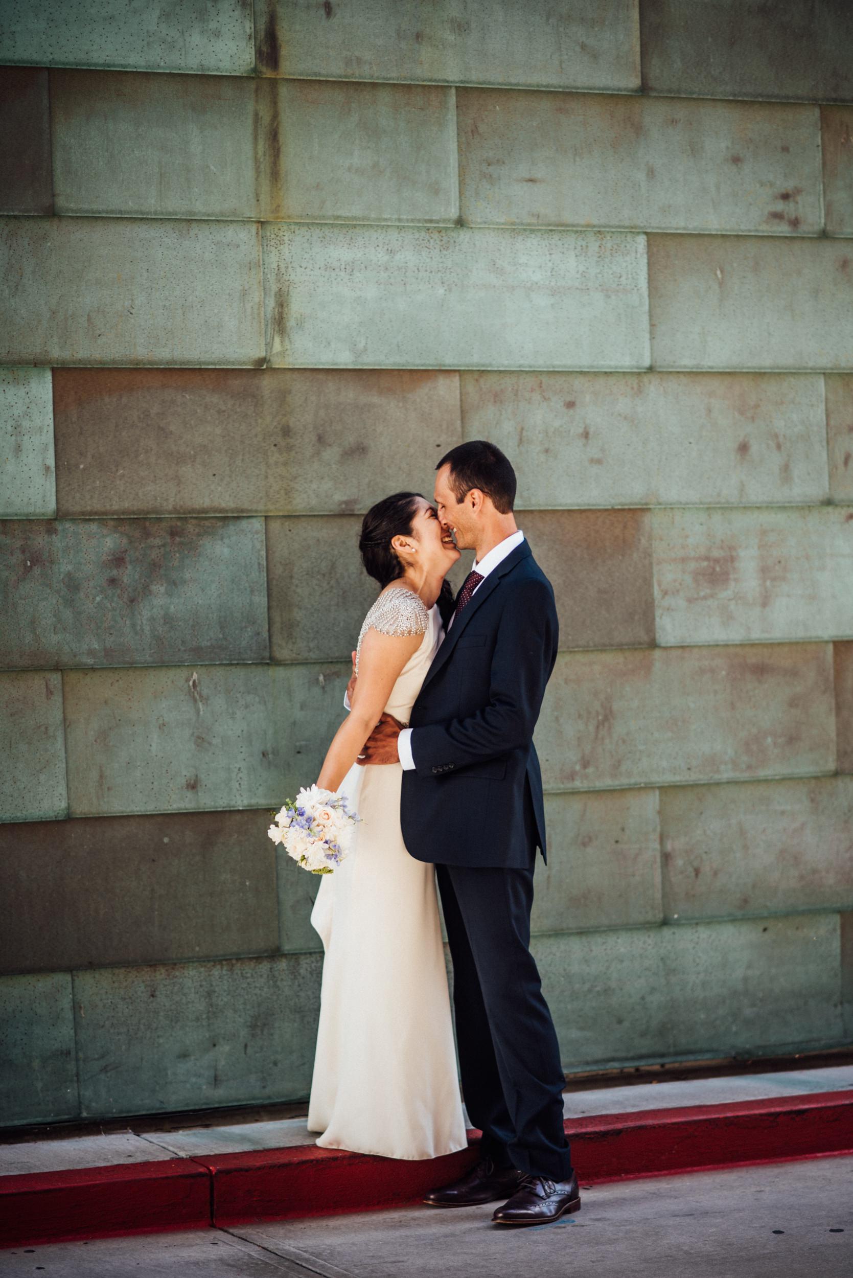 Colorado Denver Downtown Urban Wedding Colorado Wedding Photographer Bridal Portraits in LoDo