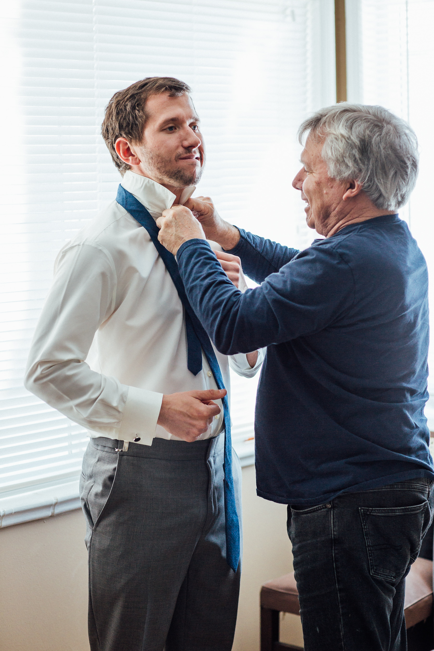 Dad and Groom getting ready-Wedding Photographer