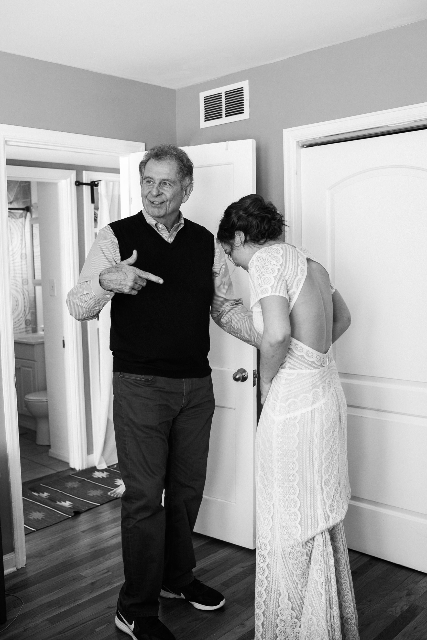 Father and Bride at Colorado Wedding Photographers