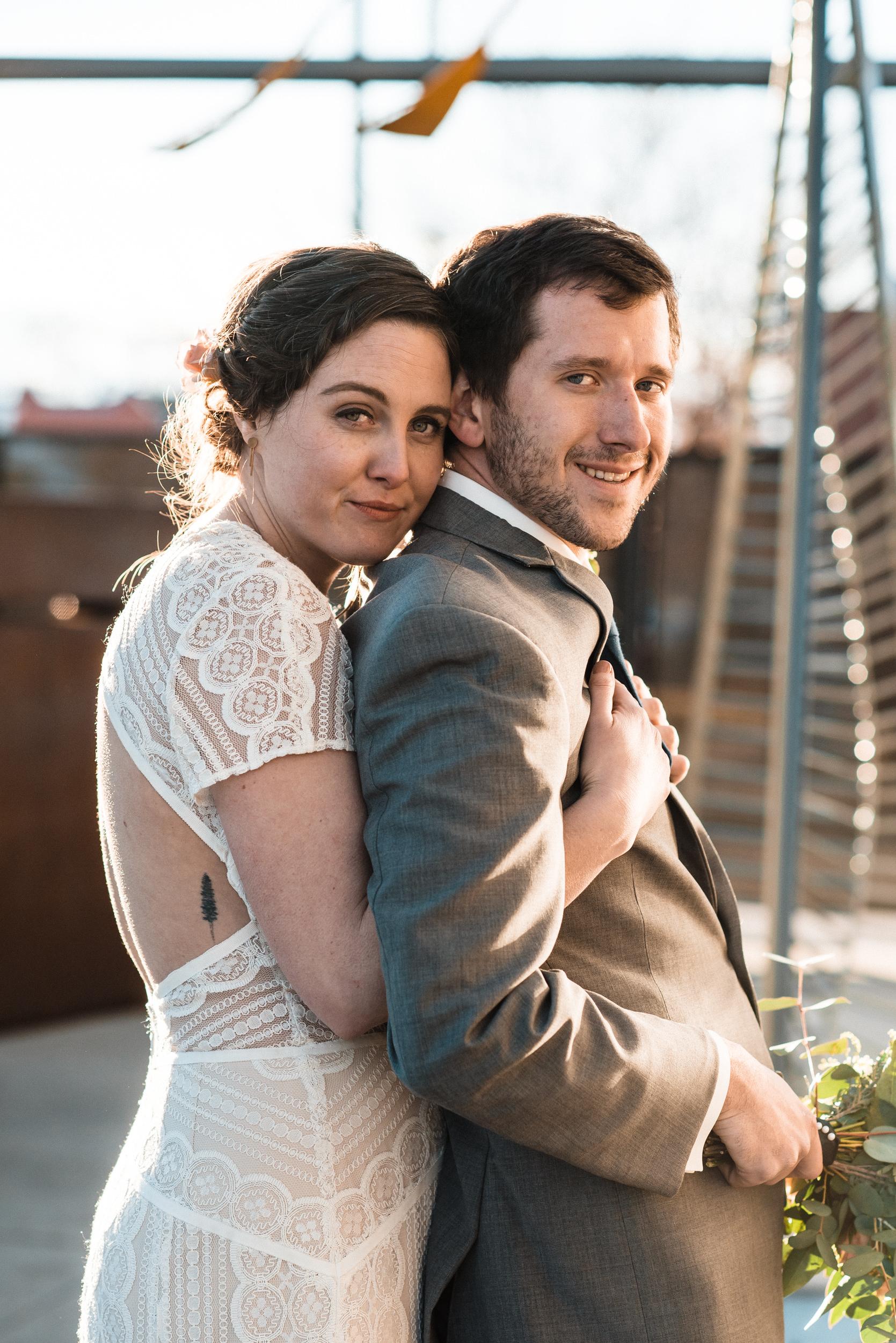 Space Gallery wedding portraits in Denver, Colorado-Colorado Kate Wedding Photography