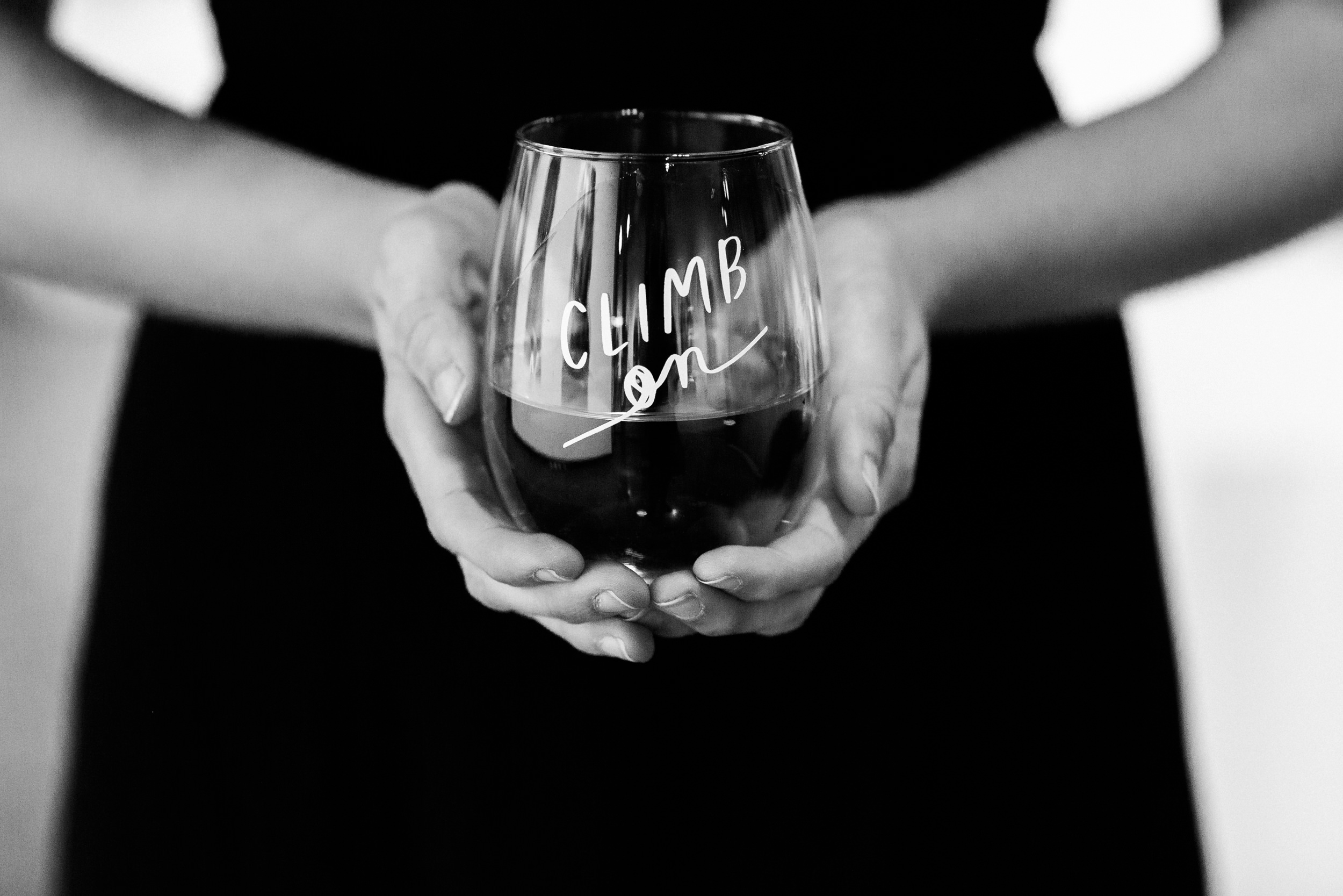 The Love Bomb Company beautiful customized steamless wine glass-Colorado Kate Photography