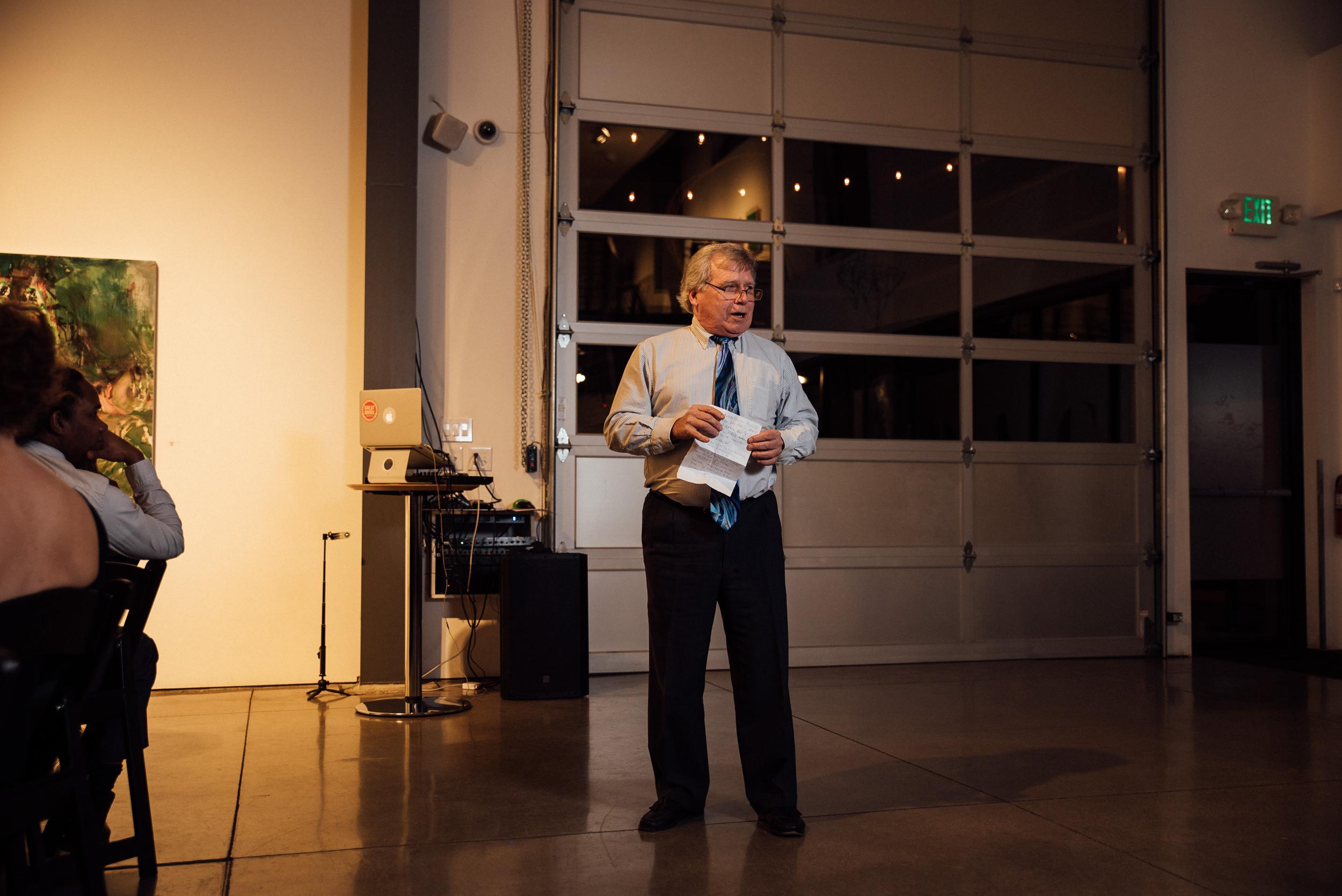 Speech at the Denver Space Gallery-Colorado wedding photographer