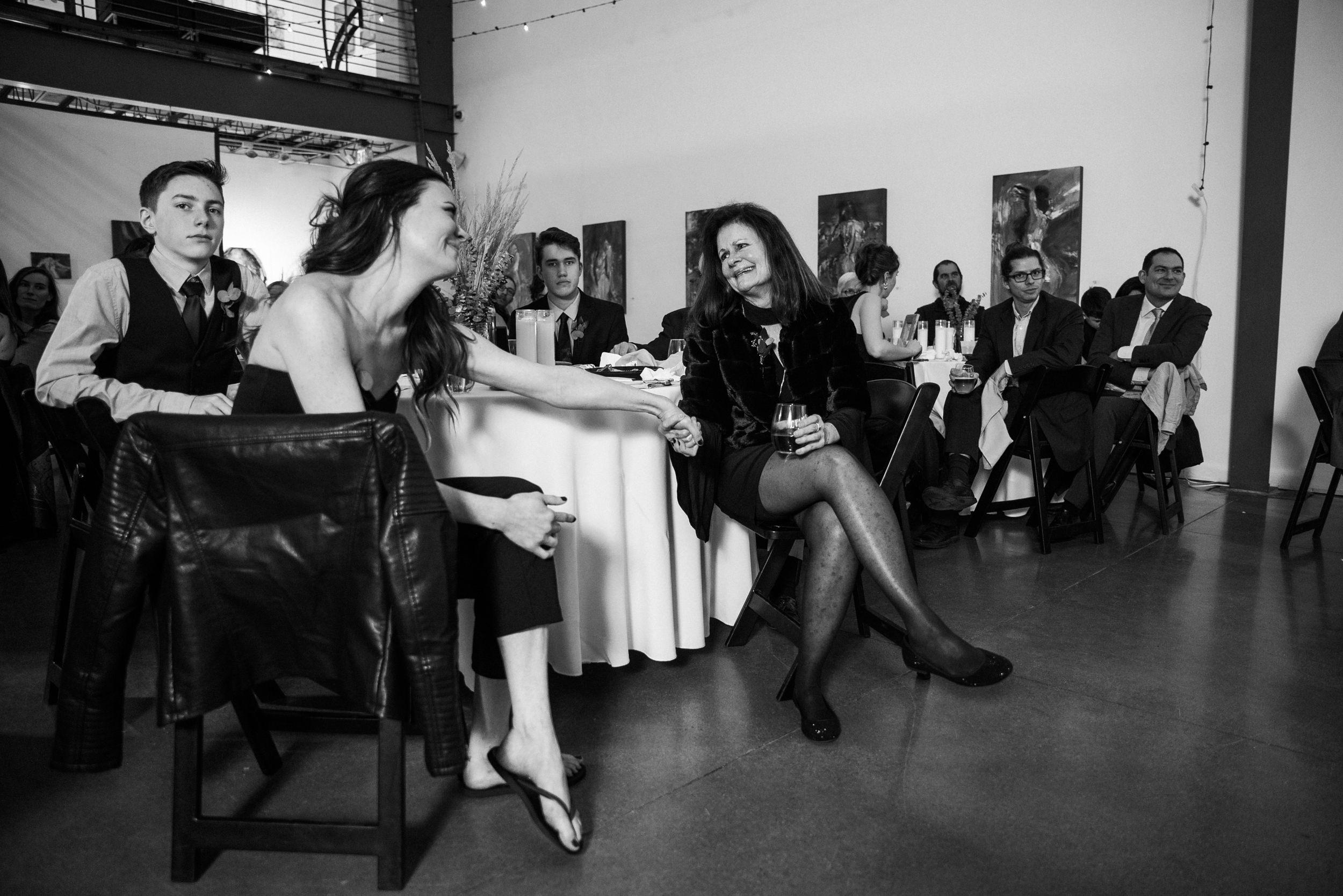Space Gallery wedding reception love-Colorado Kate Photography