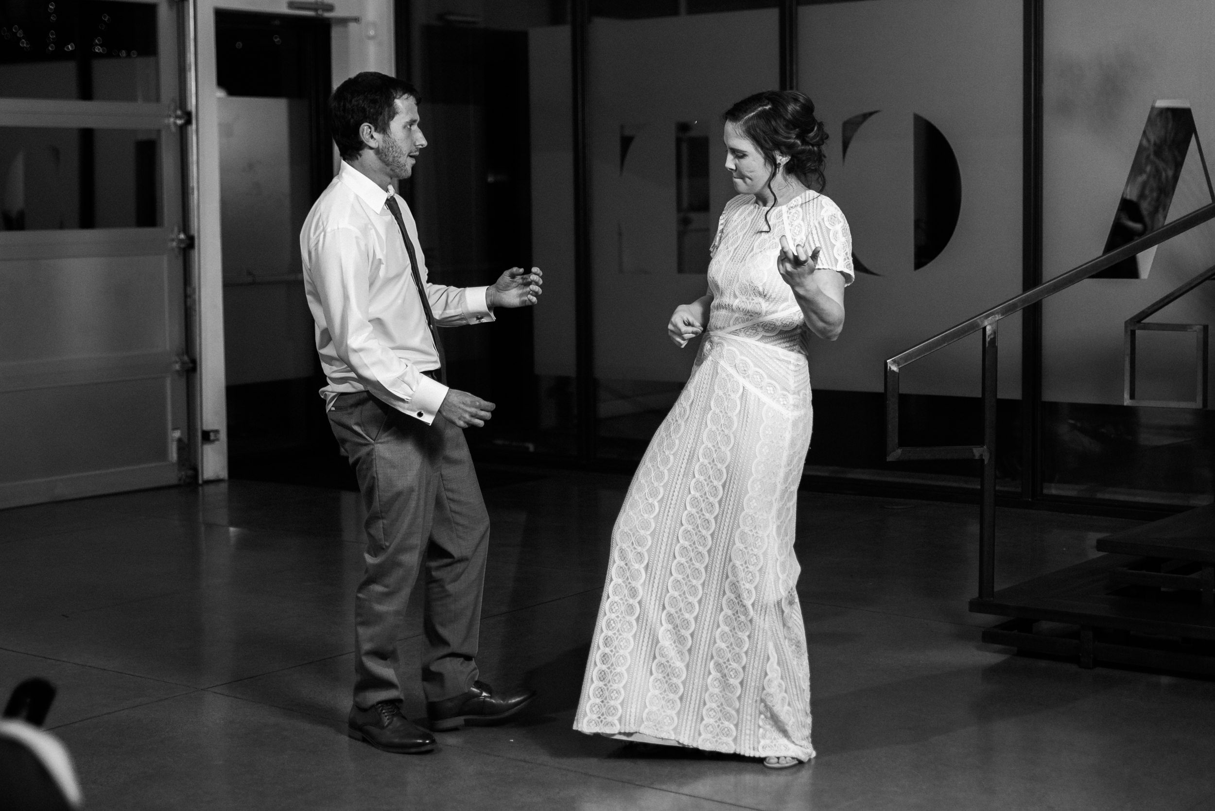 First dance at the Space Gallery wedding-Top Denver Wedding Photographer