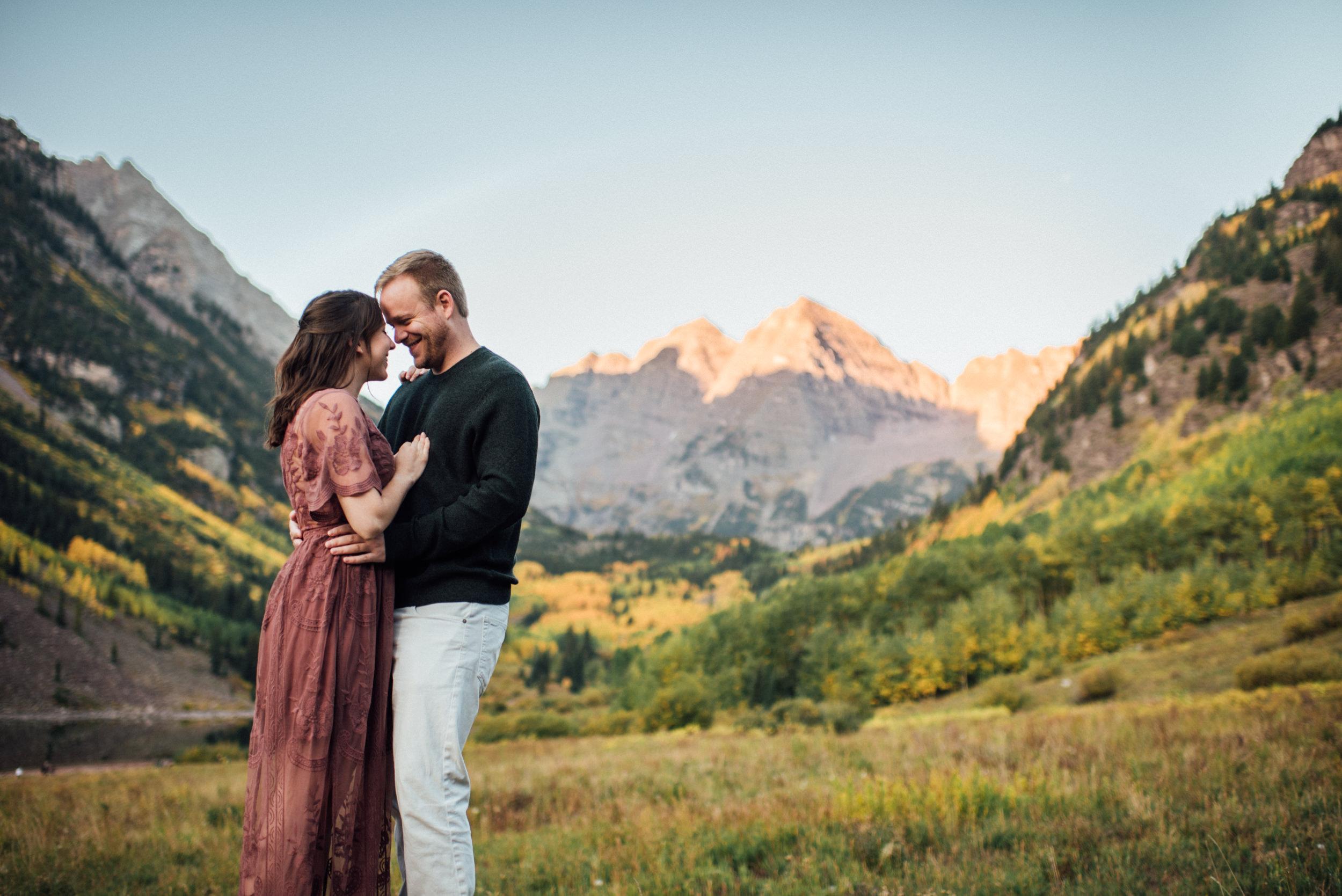 Maroon Bells Engagement Session-Aspen-Colorado-Wedding Photographer