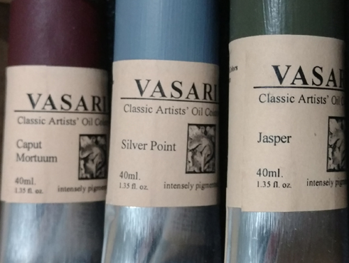 Vasari.  Two greys and one pigment with an interesting name history.