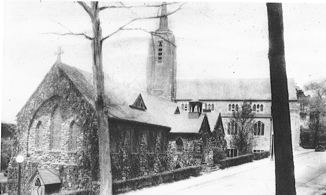1925 - The congregation of Christ Church continued to grow and once again found itself bursting at the seams. The congregation built a new sanctuary in the late summer of 1925.It is pictured here with the original sanctuary, which functioned as the parish house for 34 years.