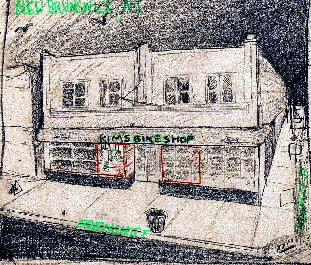 Sketch of Kim's Storefront