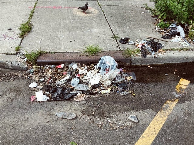 11 // location: lincoln pl., newark // characteristics: after festival, completely blocked by trash