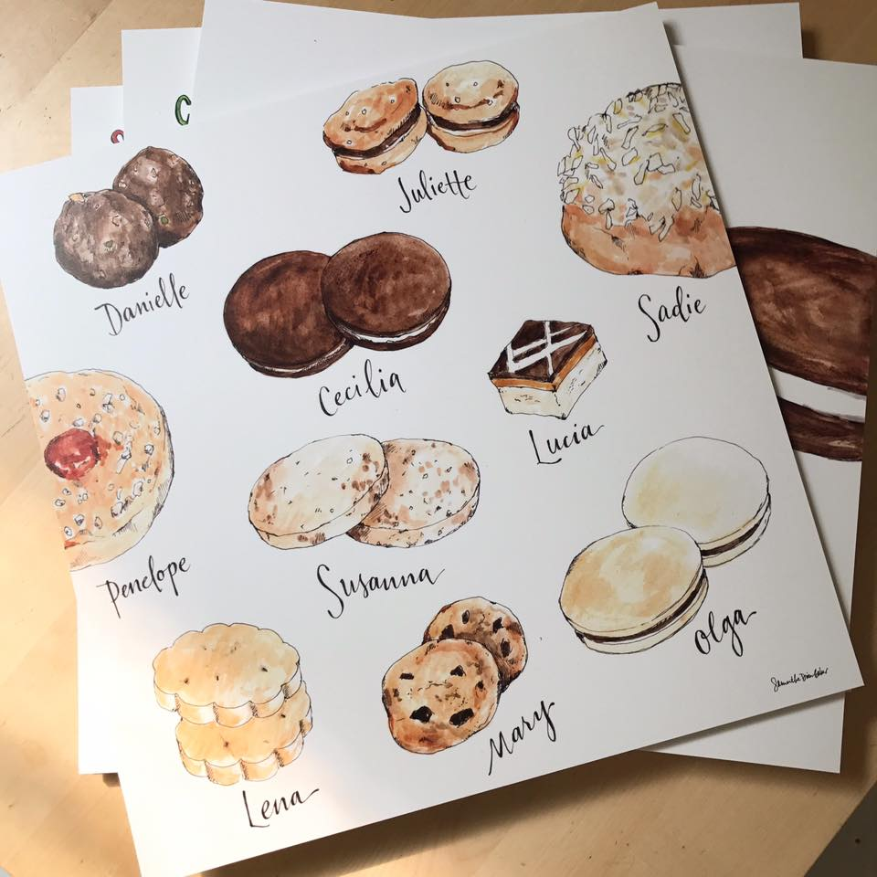 artwork by  Samantha Dion Baker  for  One Girl Cookies