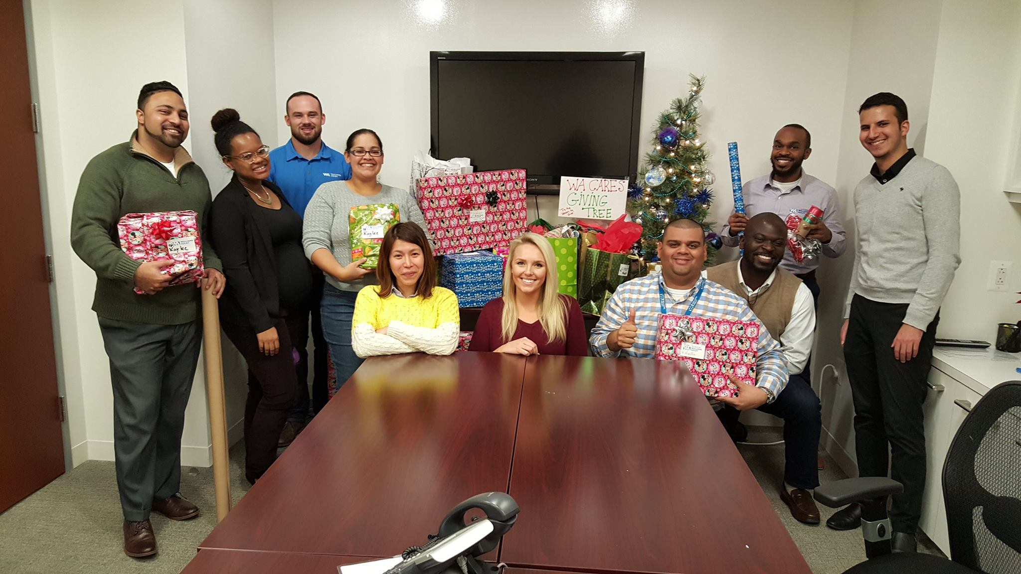 Giving Tree - Each year WA Cares works with a local organization to support a local family in celebrating the holiday season.