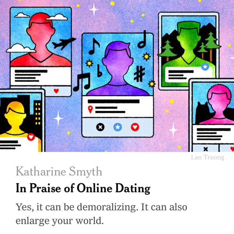 """In Praise of Online Dating,""  The New York Times"