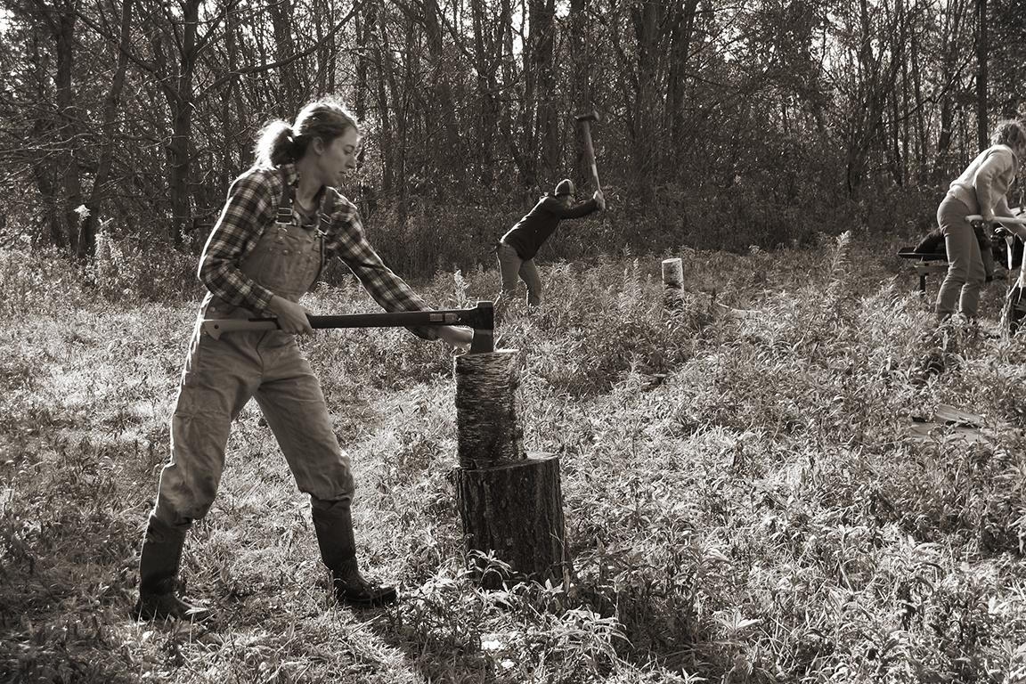 Women Chop Wood