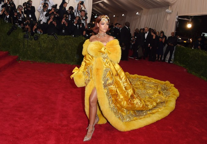 """Rihanna x Guo Pei x 2015 Met Gala """"China: Through the Looking Glass."""" Photo by Getty Images."""