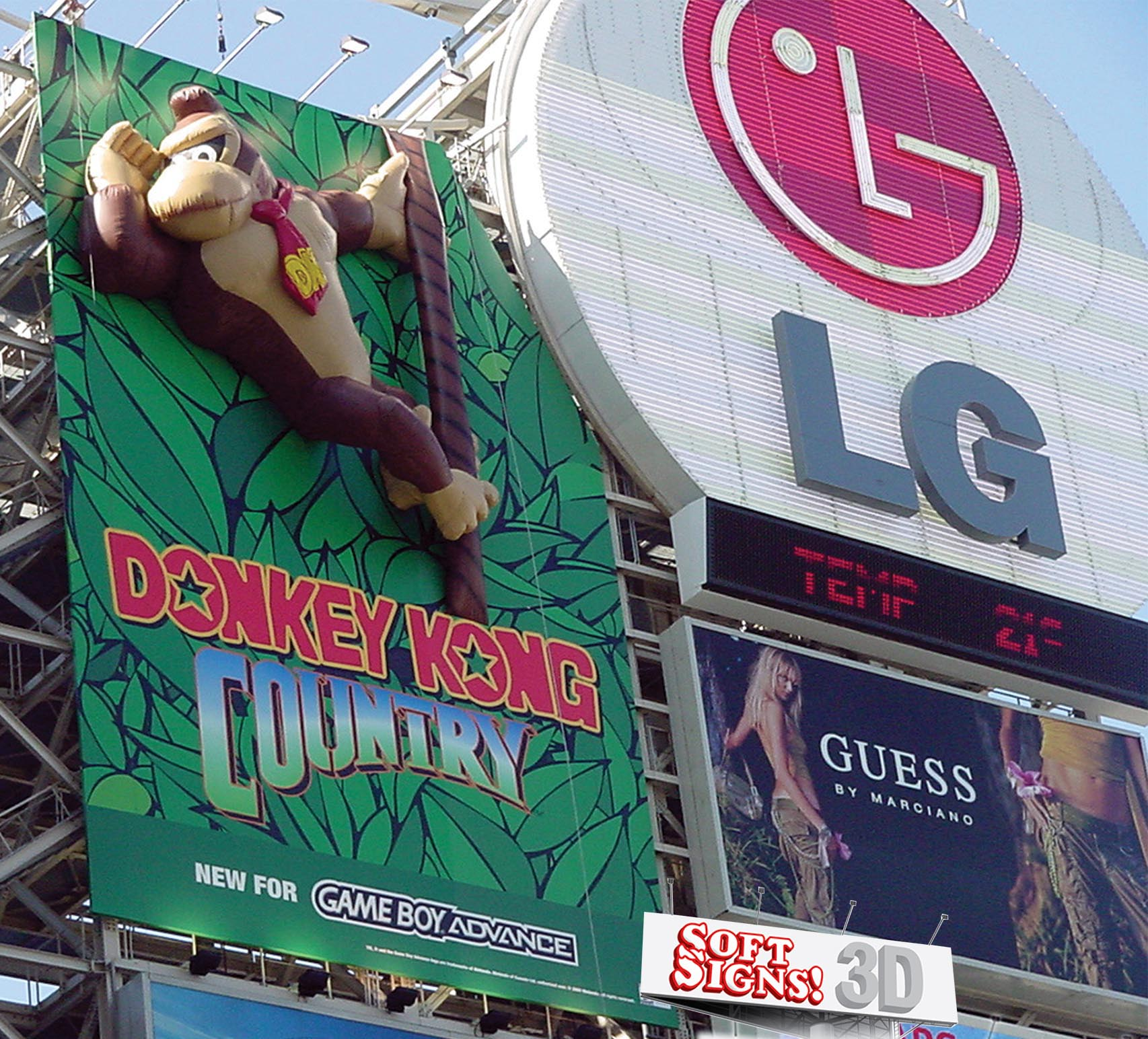 Soft Signs 3D Donkey Kong