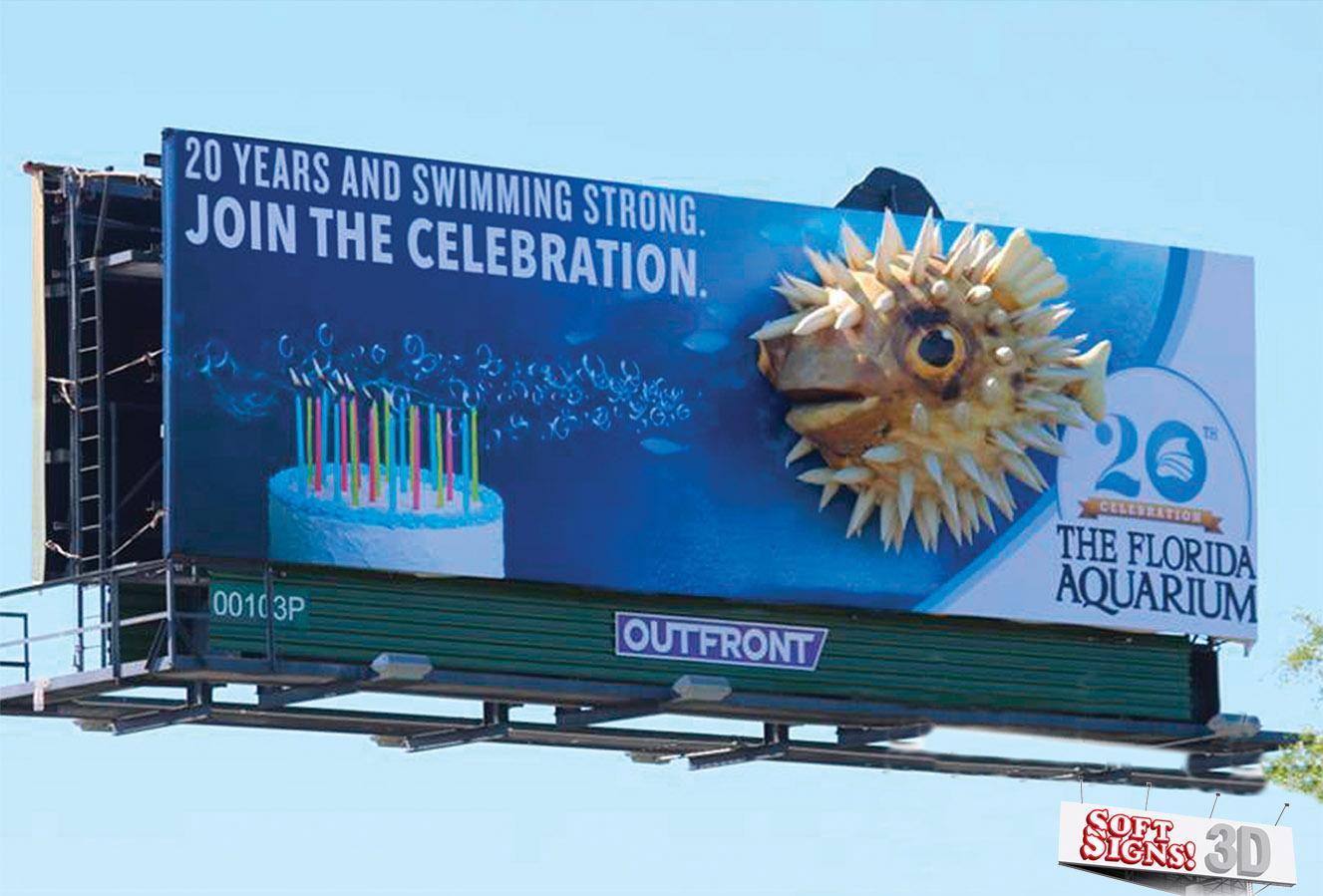 Soft Signs 3D Florida Aquarium Puffer Fish