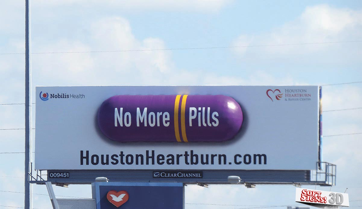 Soft Signs 3D Houston Heartburn Purple Pill
