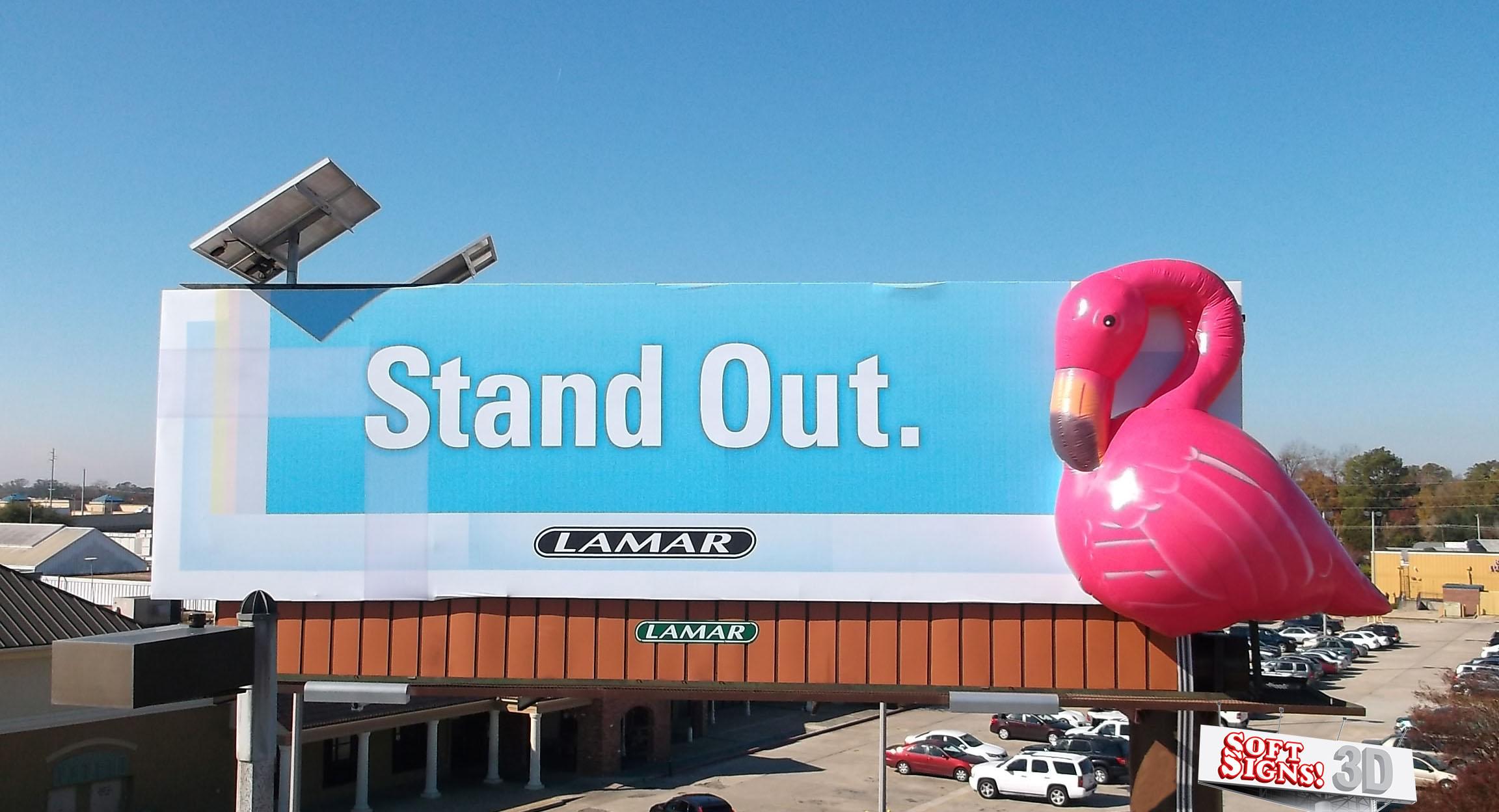 Lamar 3D Flamingo by Soft Signs 3D