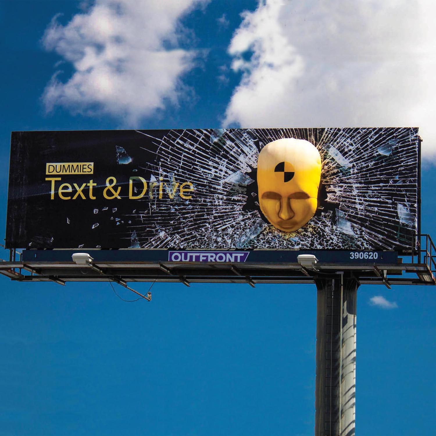 Dummies text and Drive 3D Billboard by Soft Signs 3D
