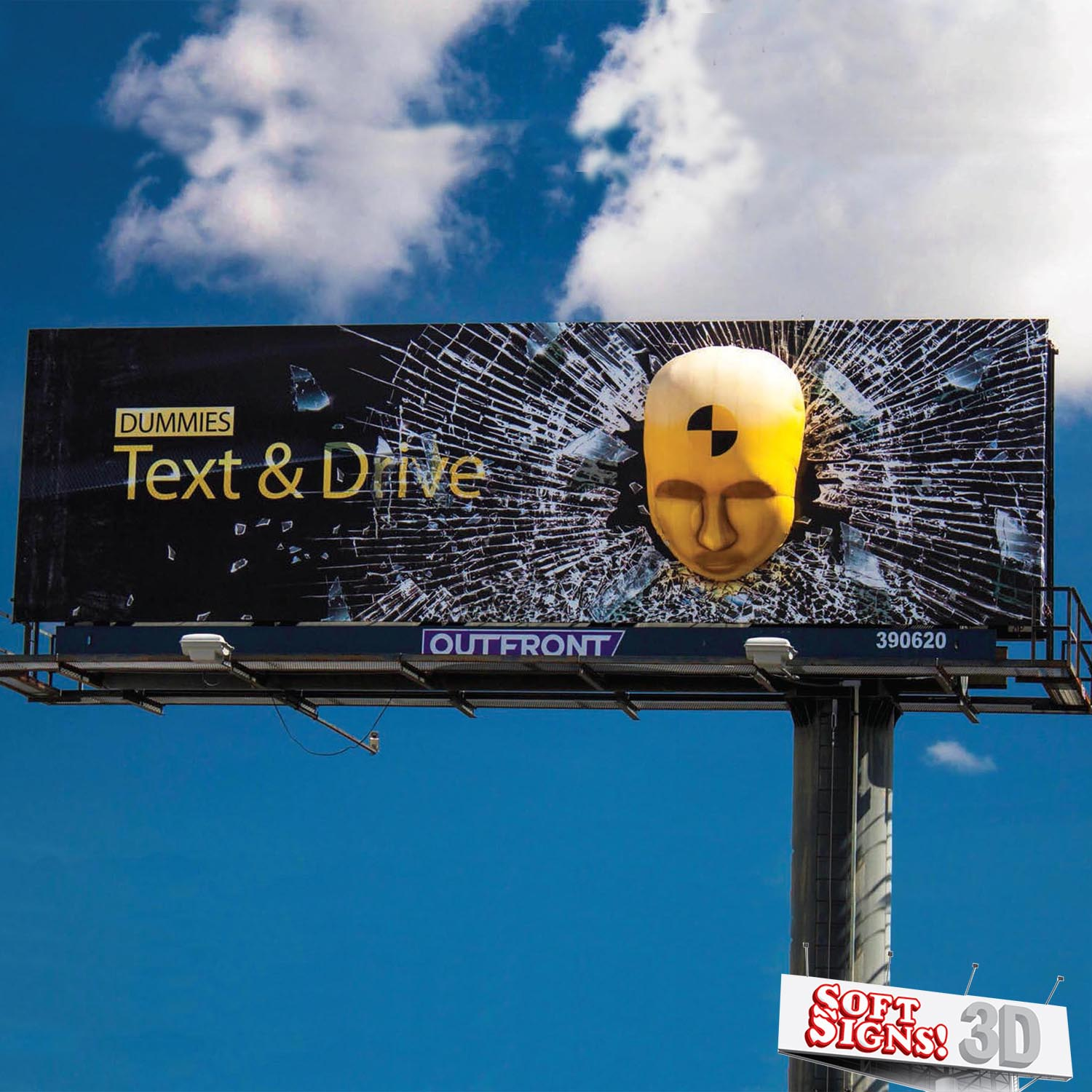 Dummies Text and Drive by Soft Signs 3D