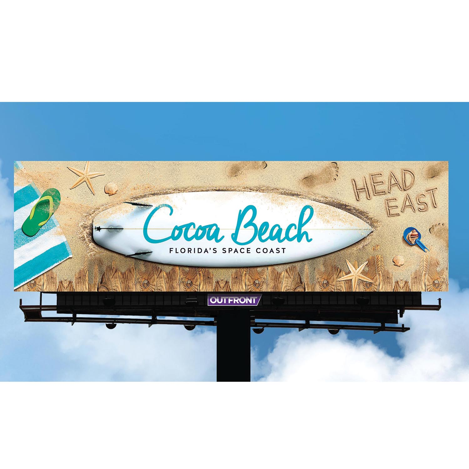 Coco Beach Surfboard Creative