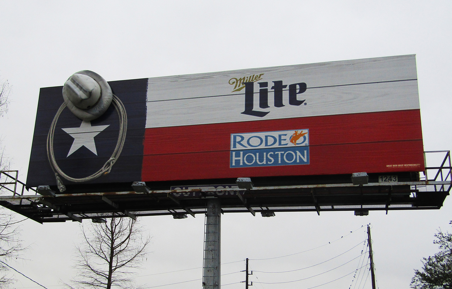 Miller Hat Houston Rodeo 3D Billboard by Soft Signs 3D